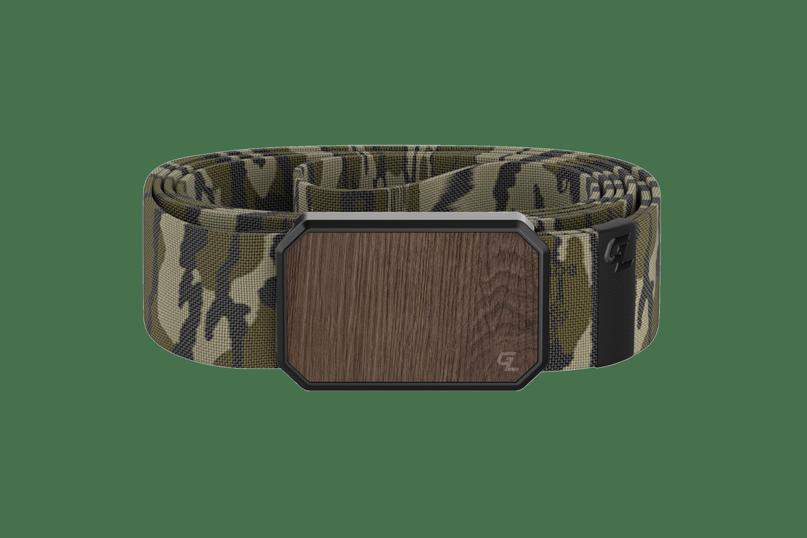 Groove Belt Walnut/Mossy Oak Bottomland  viewed front on