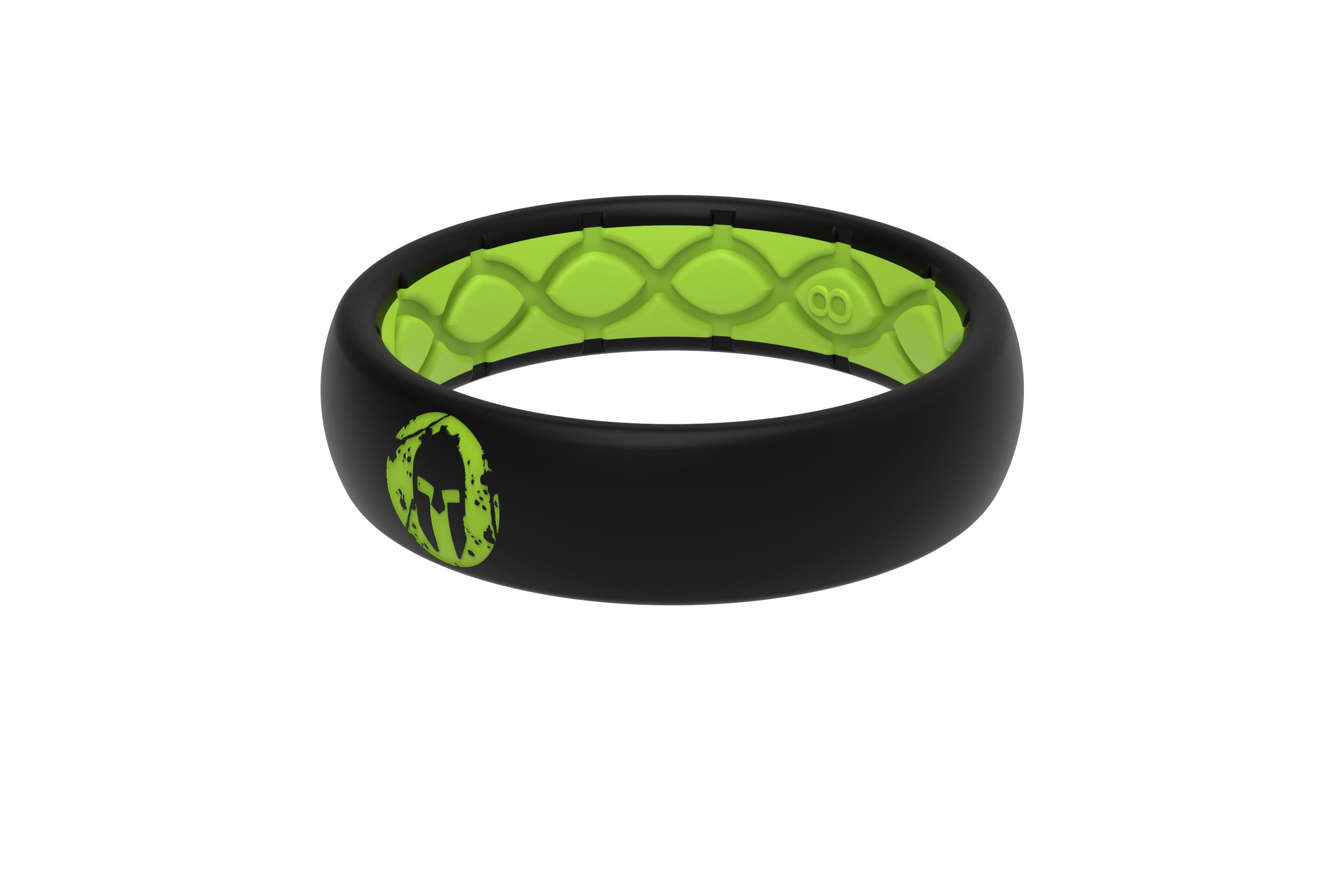 Thin Spartan Beast Green  viewed from side