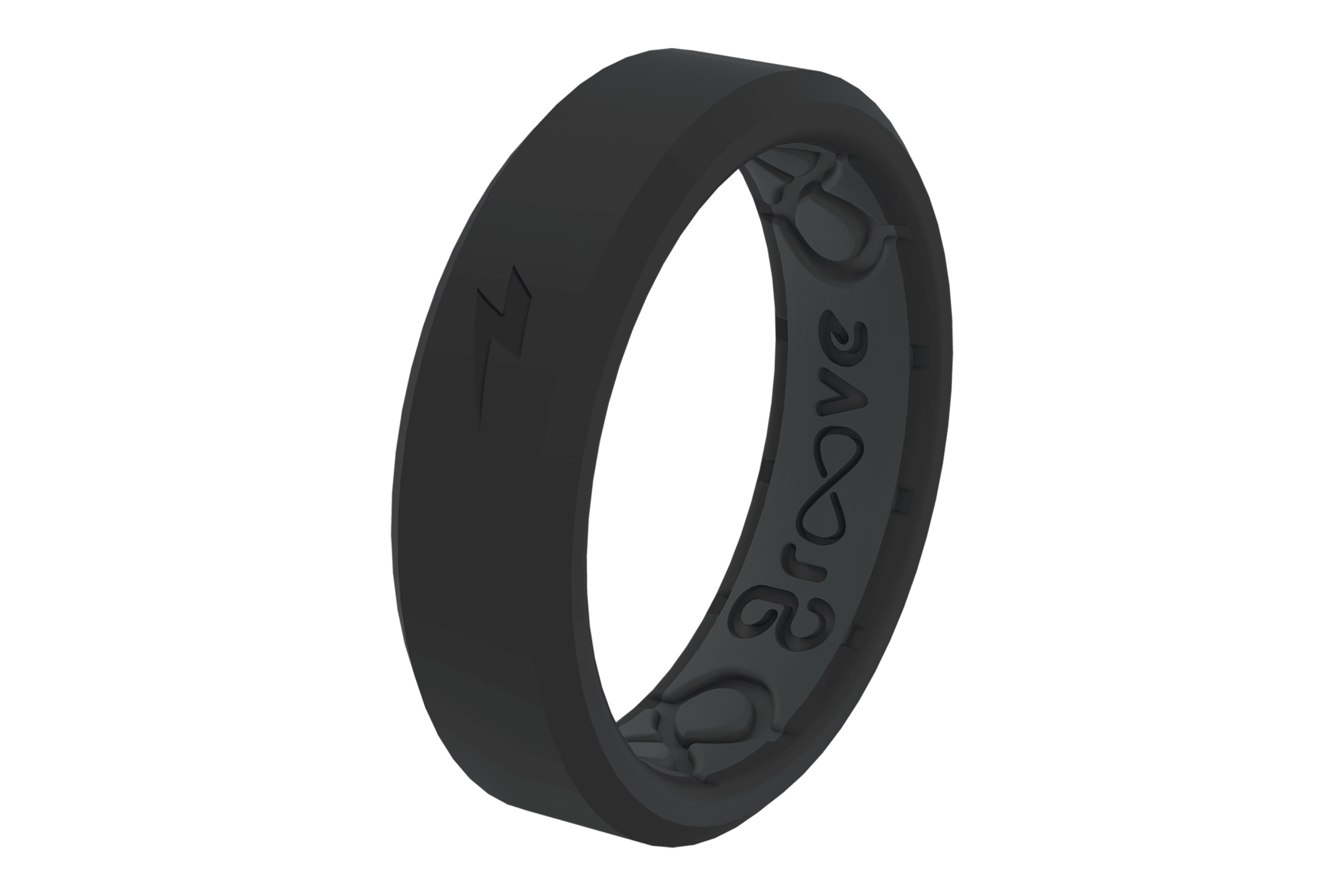 Thin Zeus Midnight/Black - Groove Life Silicone Wedding Rings