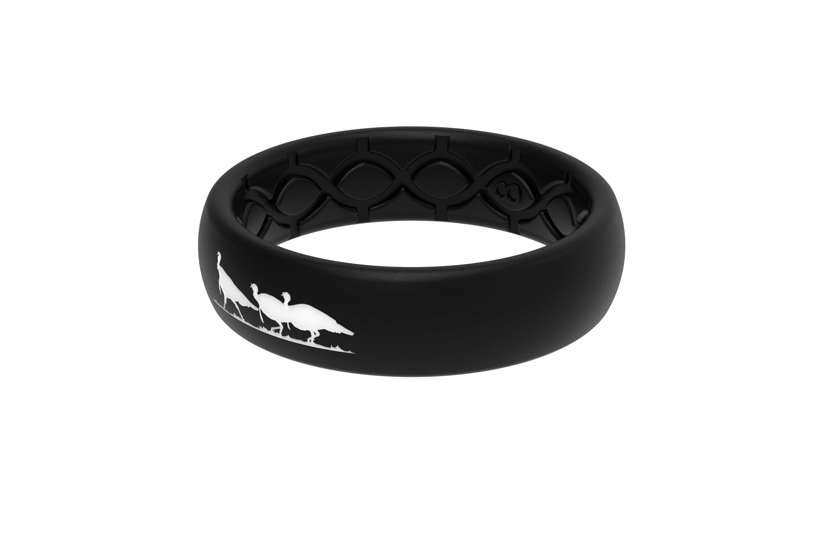 Thin NWTF Black Logo - Groove Life Silicone Wedding Rings