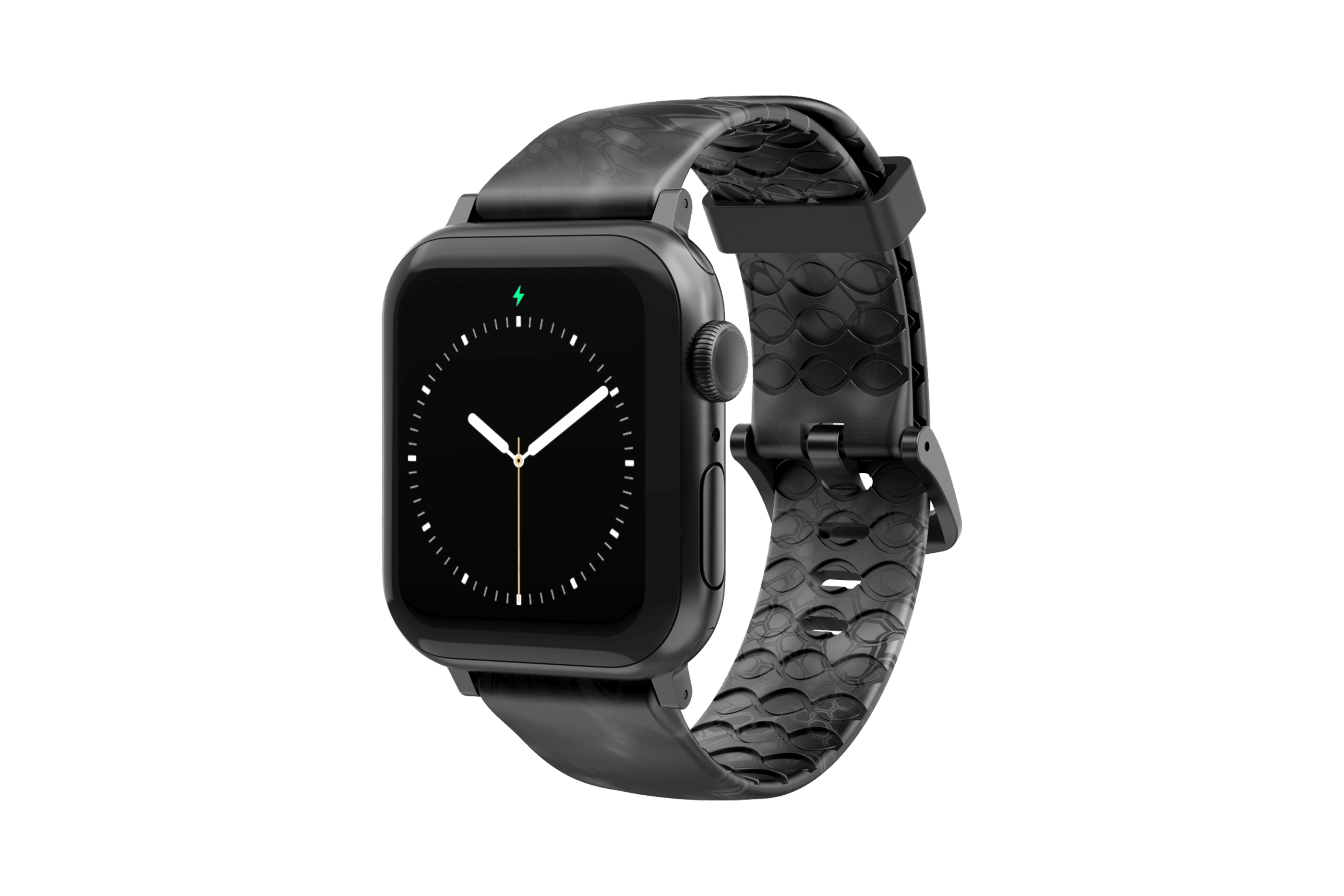 Kryptek Typhon - Apple Watch Band with gray hardware viewed front on