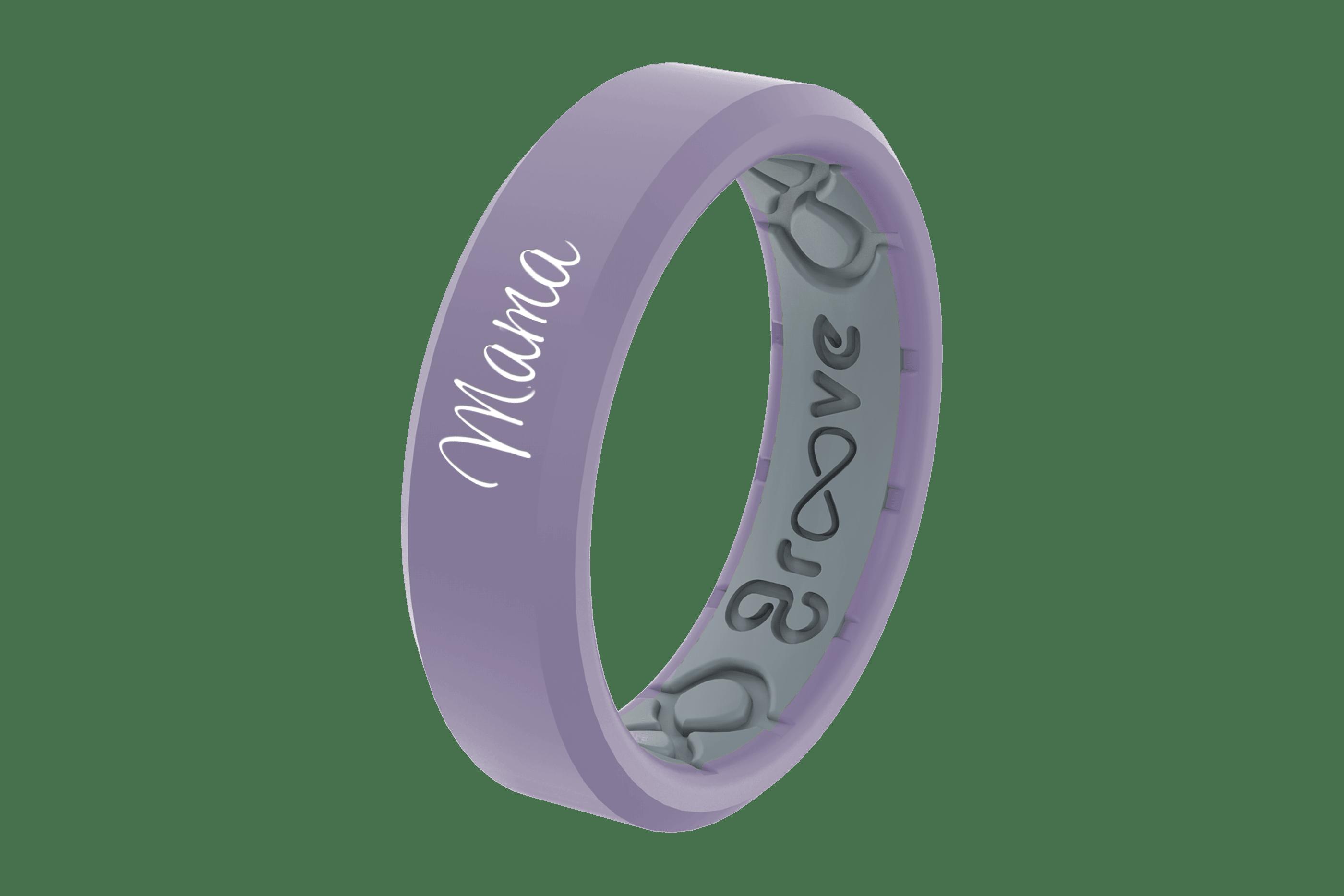 Hydrangea Mama - Groove Life Silicone Wedding Rings