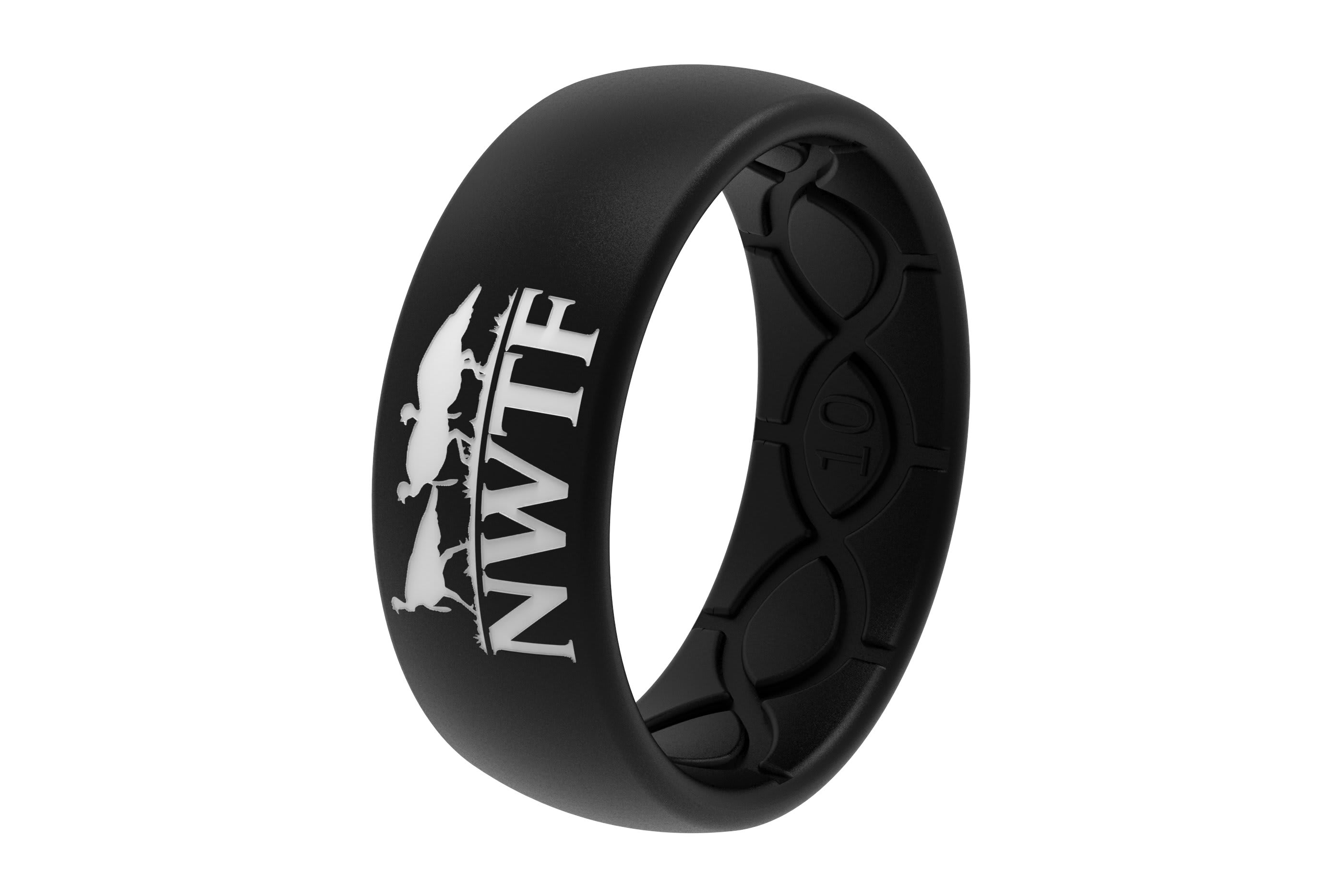 Original NWTF Black Logo  viewed on its side  viewed on its side