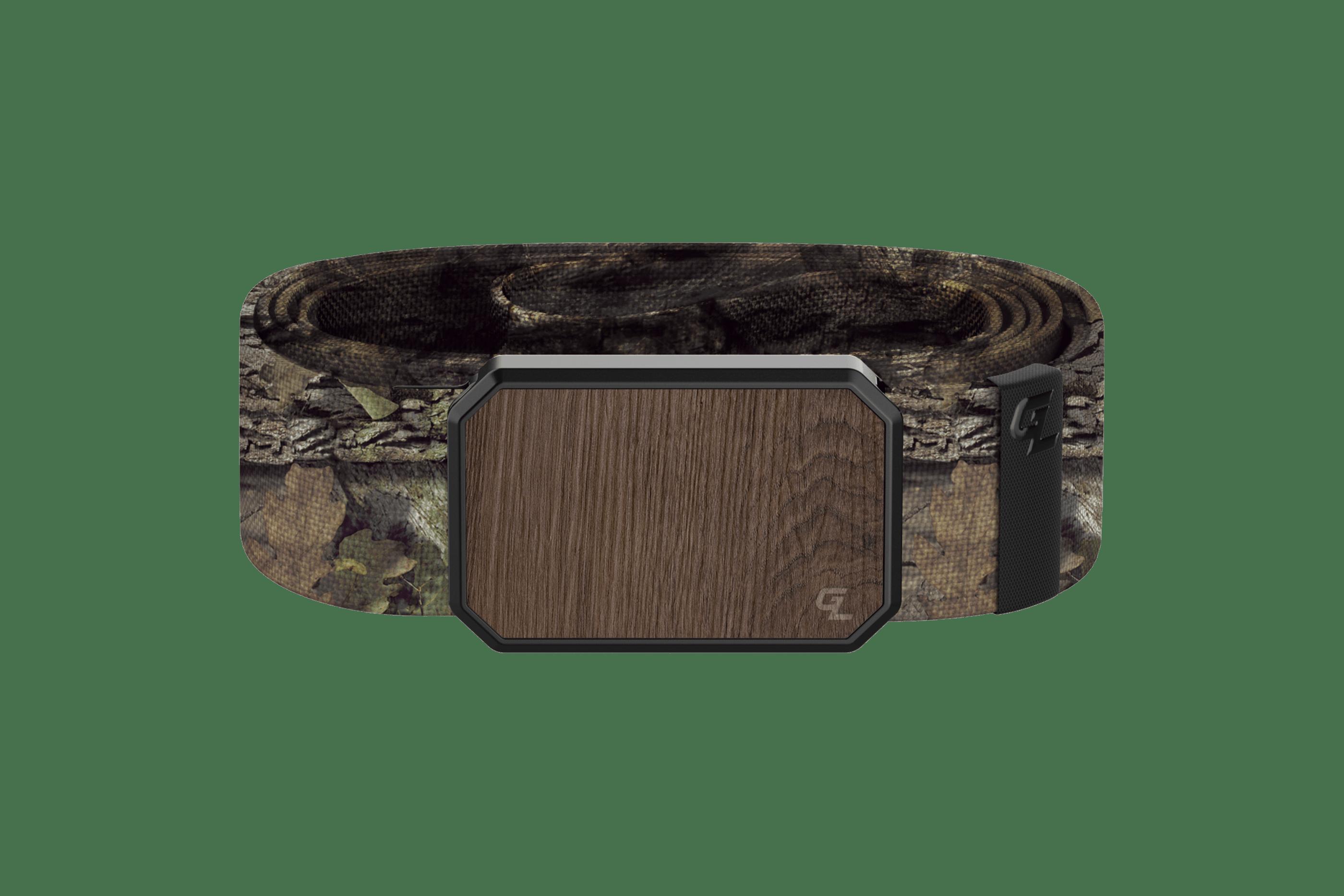 Groove Belt Mossy Oak Breakup Walnut  viewed front on