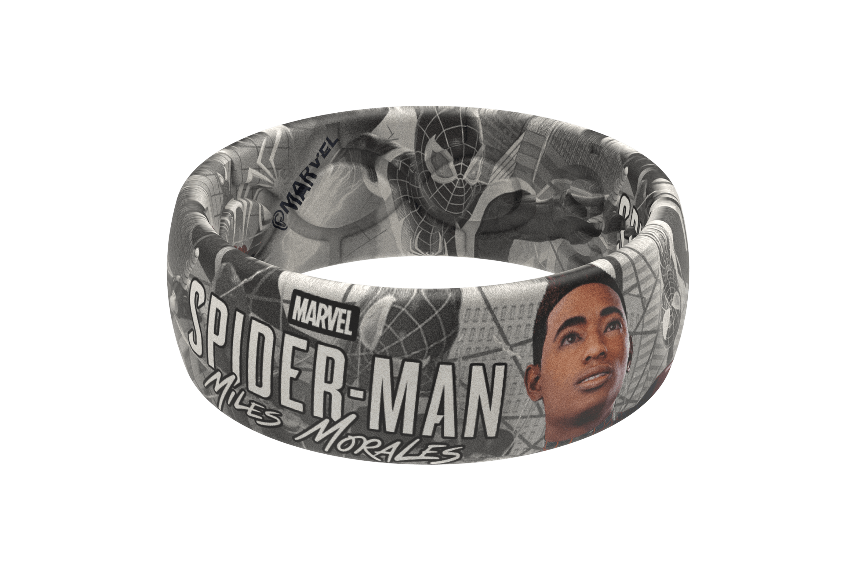Spider-Man Miles Morales Black and White Comic  viewed front on