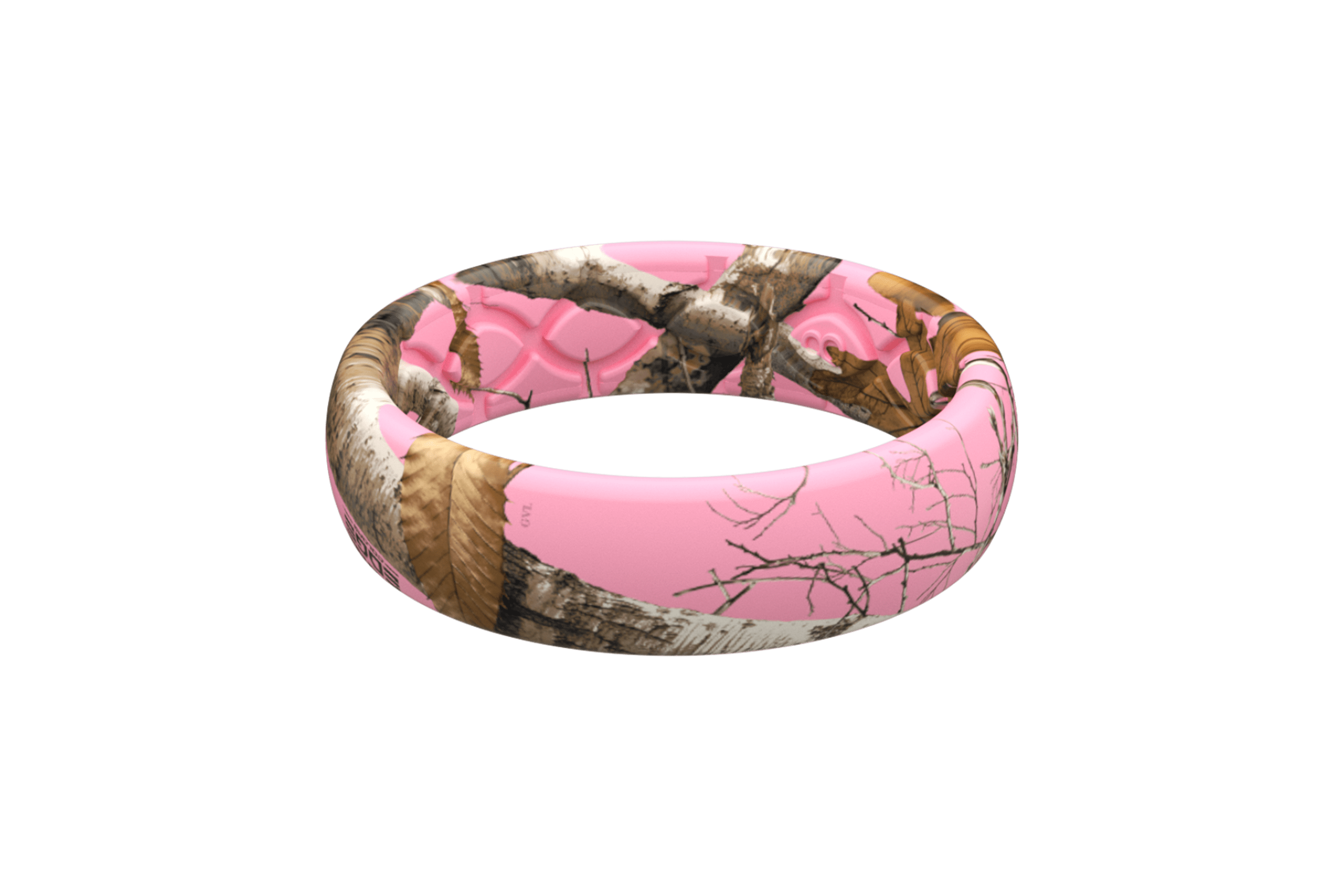 Thin Camo Realtree Edge Pink  - Groove Life Silicone Wedding Rings