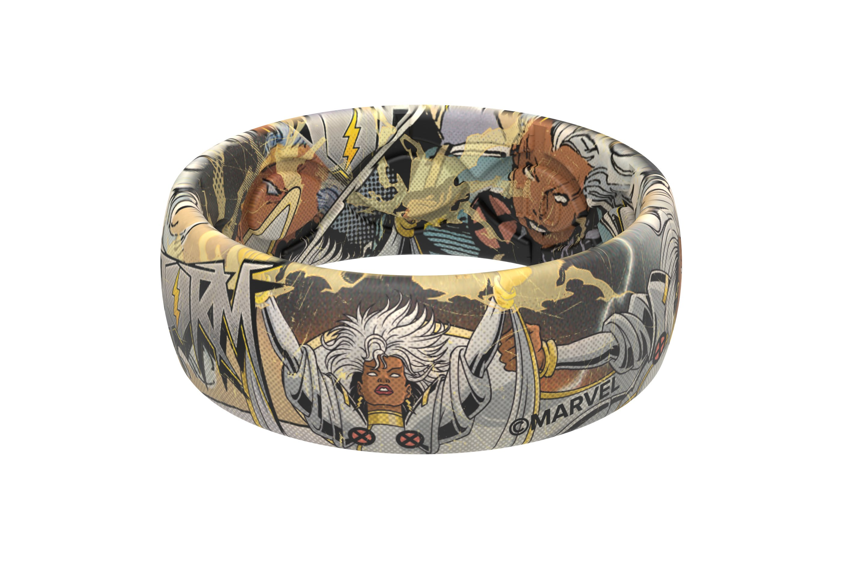 Storm Classic Comic Ring  viewed from side