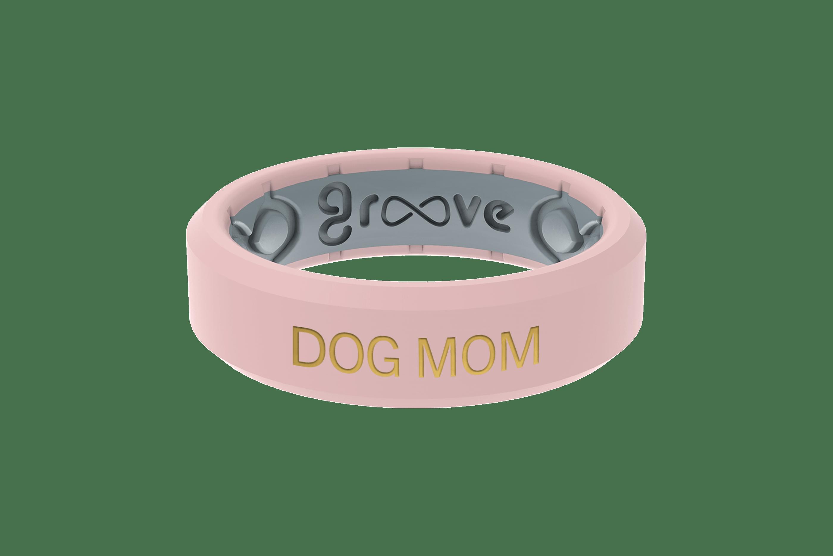 Rose Quartz Dog Mom - Groove Life Silicone Wedding Rings