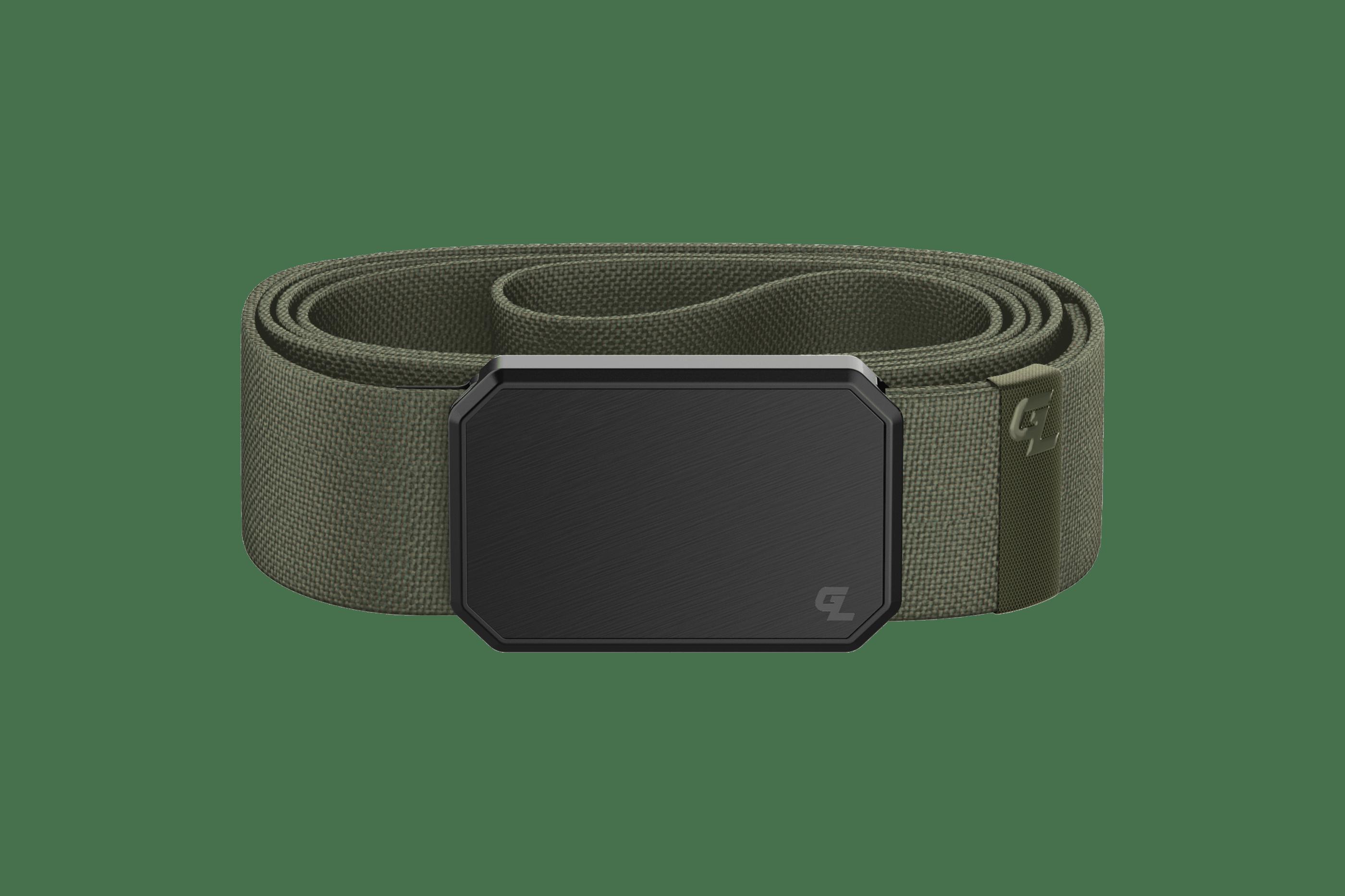 Groove Belt Black/Olive  viewed front on