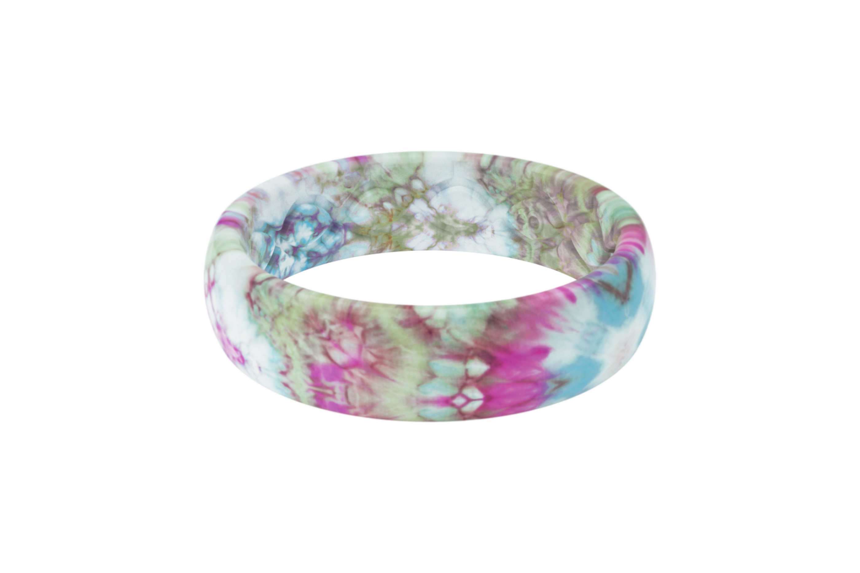 Groove Life Peace, Love, Tie-Dye Thin Tie-Dye viewed from the side