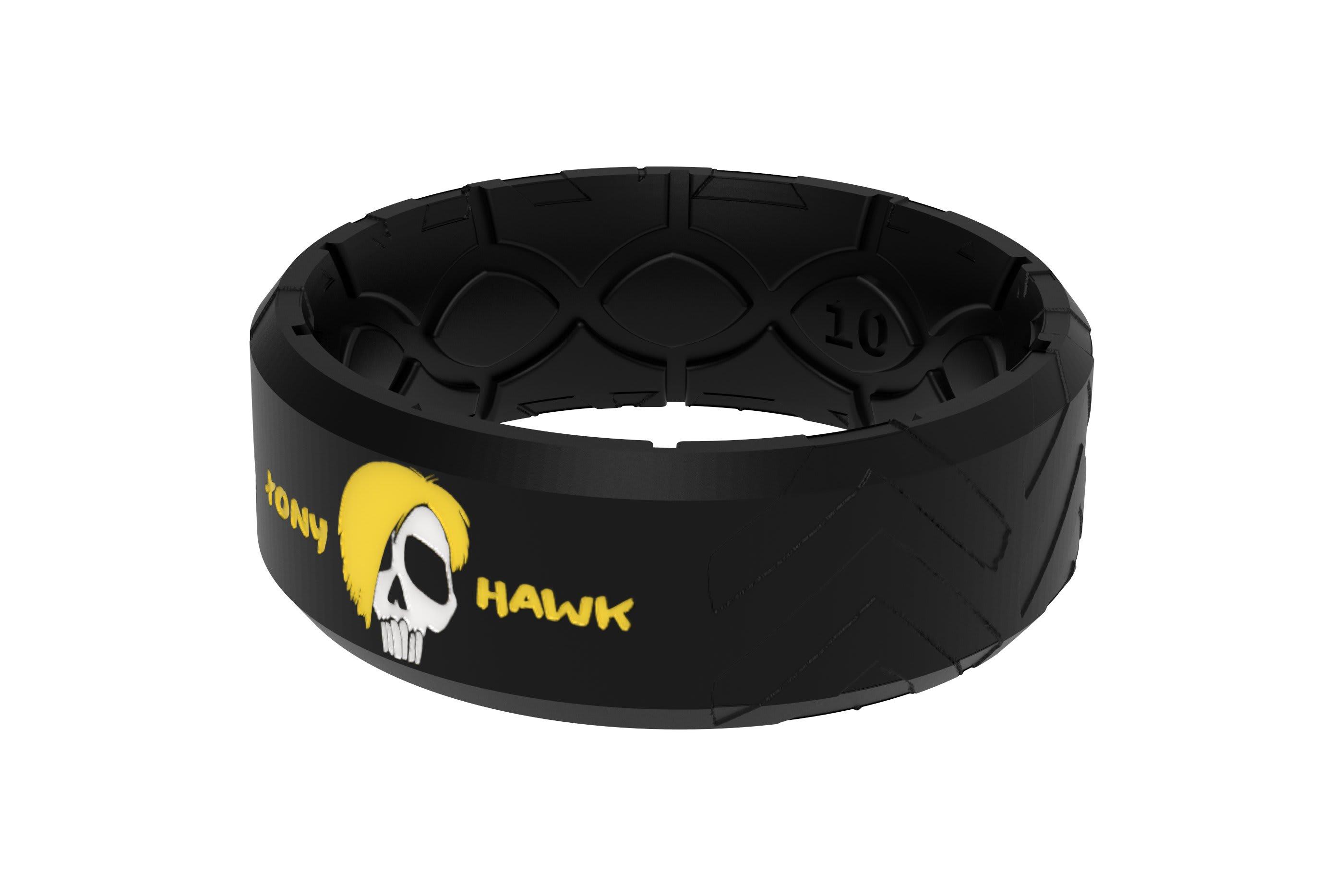 Tony Hawk Skate + Die Ring viewed from side