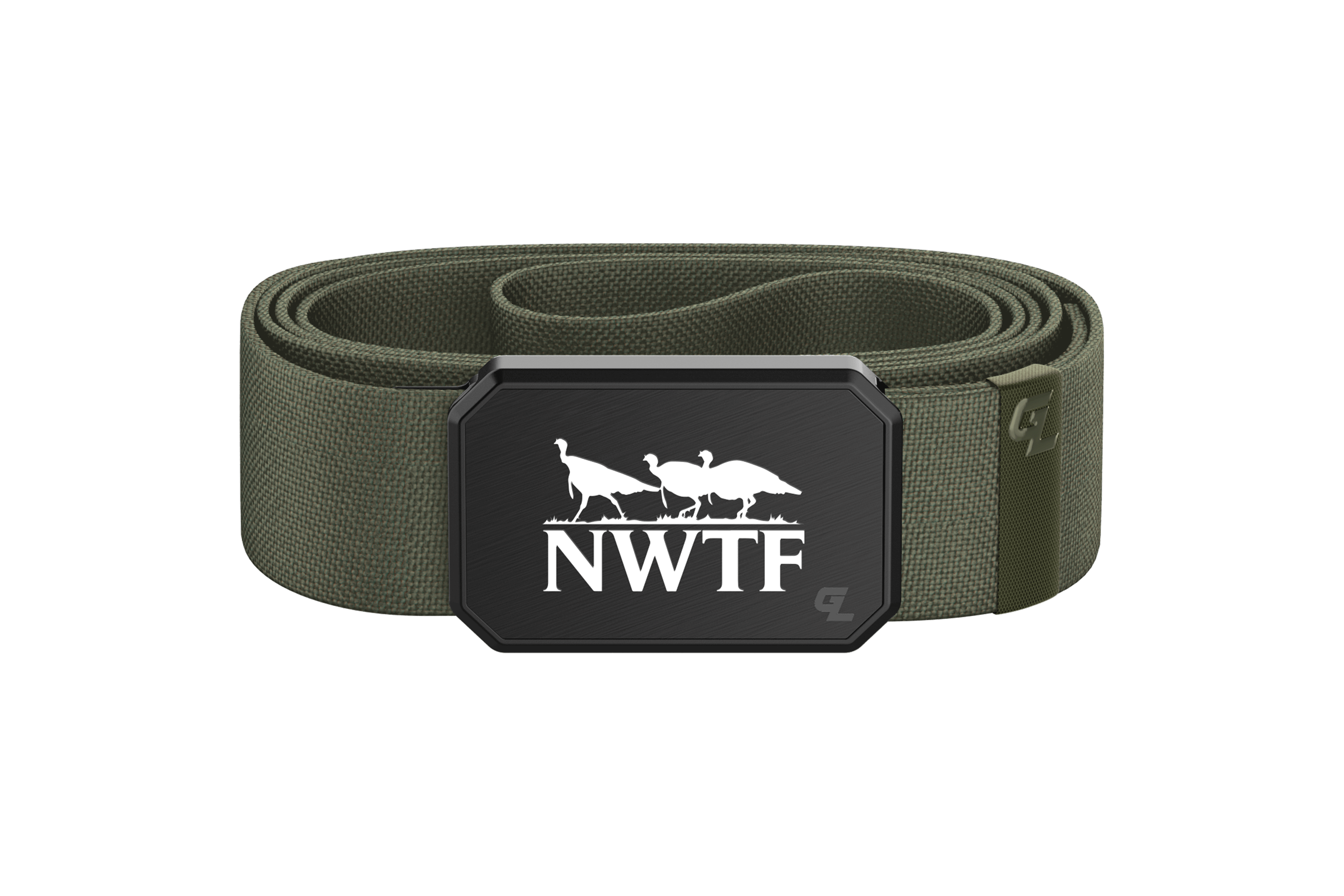 Groove Belt Black/Olive NWTF  viewed front on