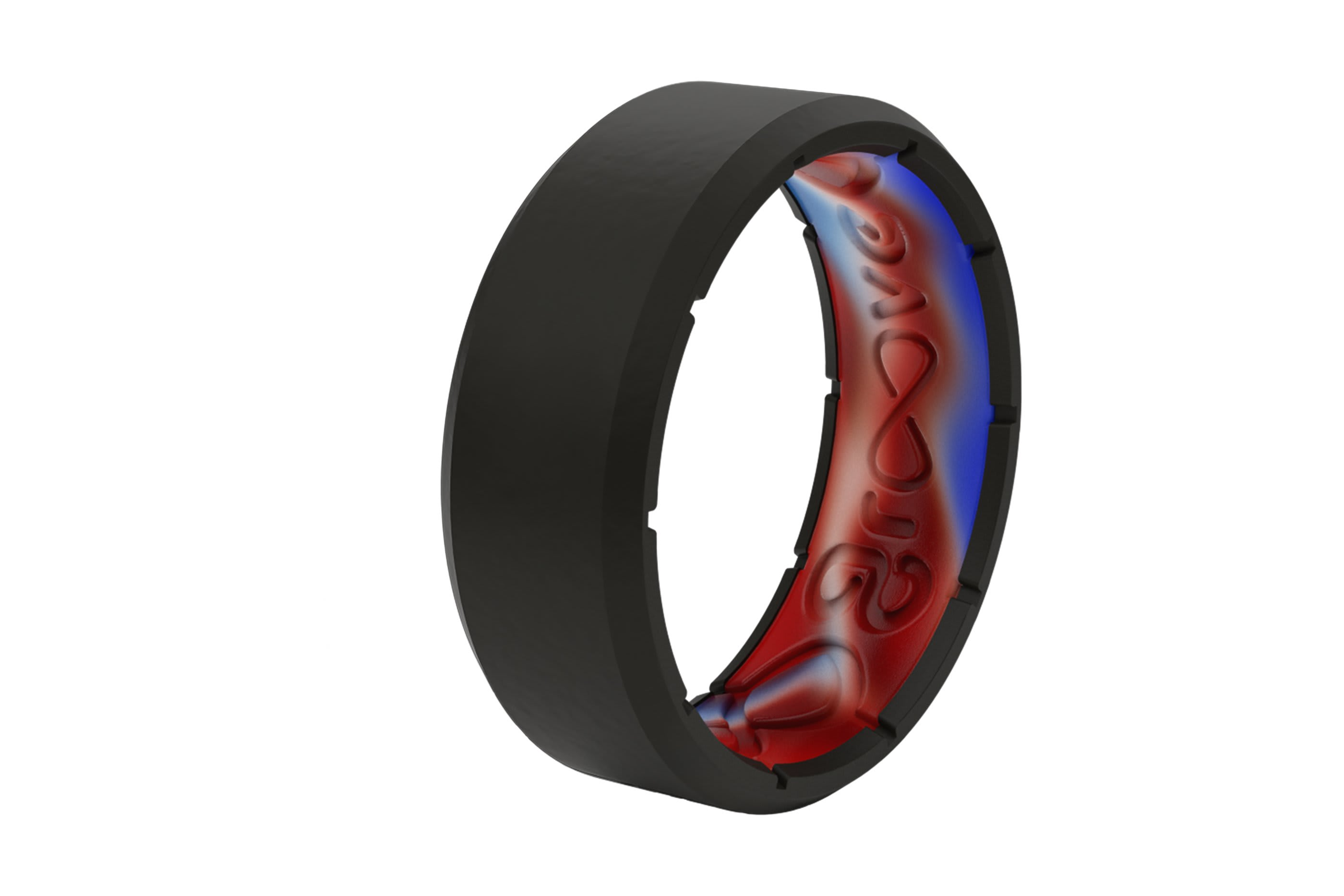 Zeus Patriot Edition Ring viewed on its side