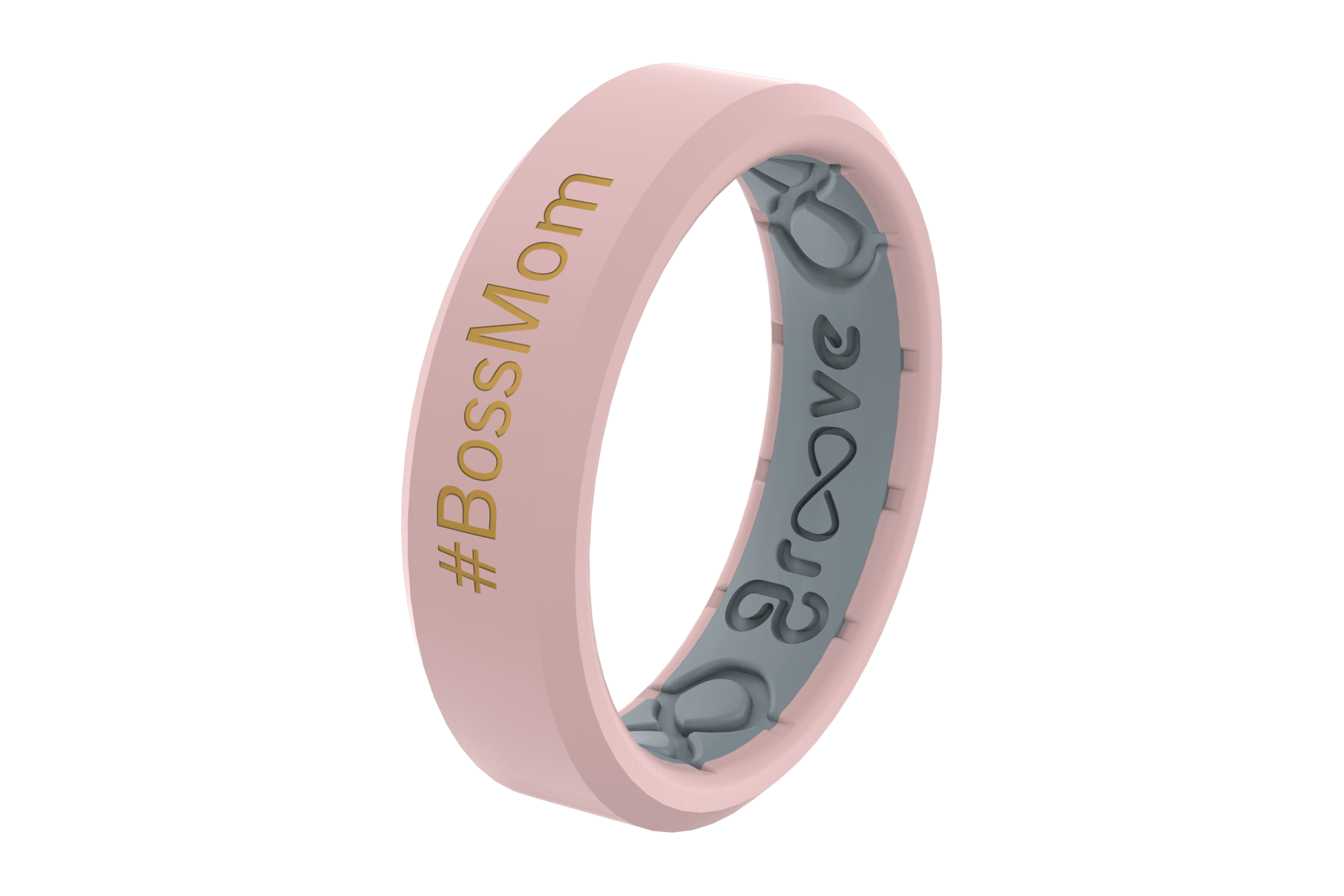 Rose Quartz #BOSSMOM - Groove Life Silicone Wedding Rings
