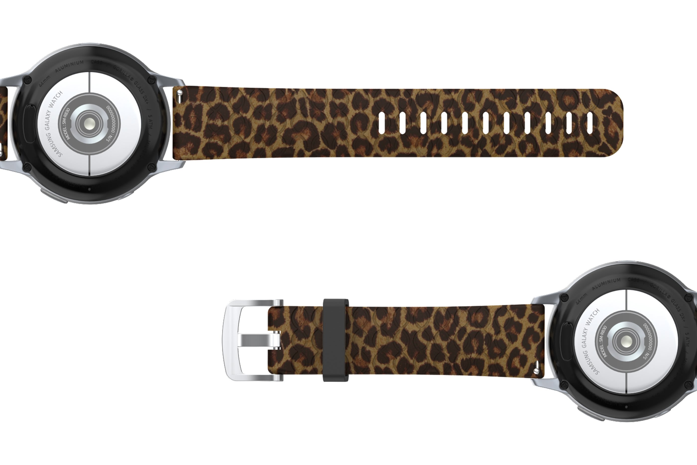 Leopard Samsung 22mm   watch band viewed bottom up