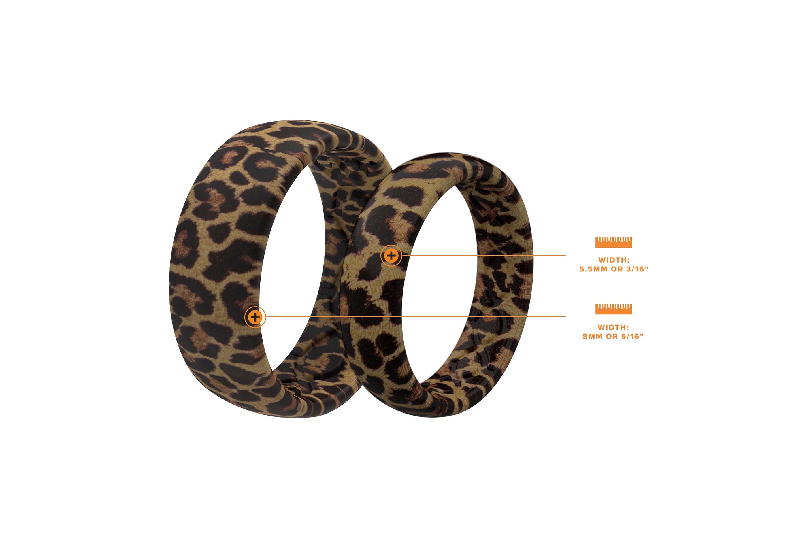 """Compare Leopard Wide (5/16"""") and Leopard Thin (3/16"""") Rings"""