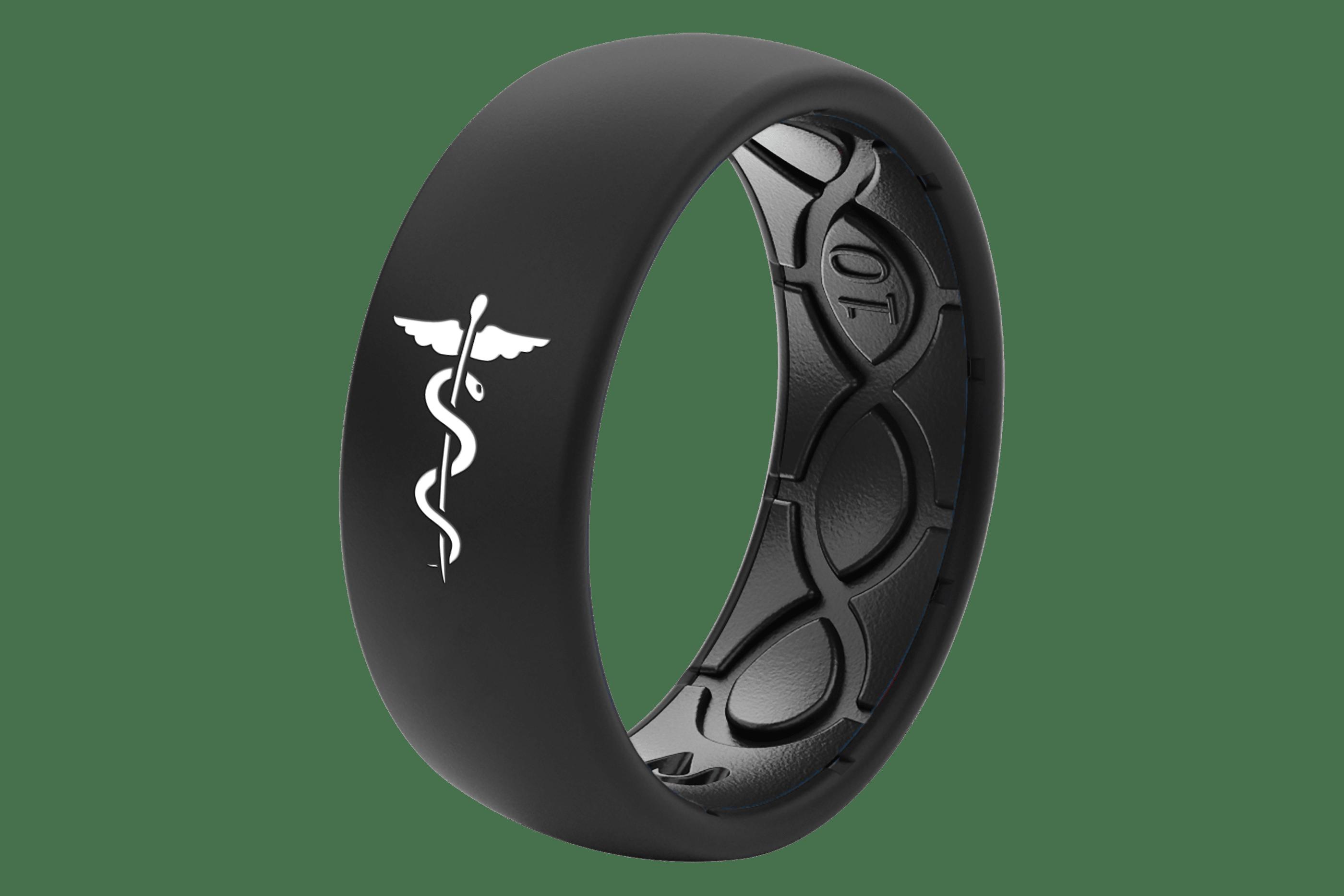 Original Solid Medical Hero Black - Groove Life Silicone Wedding Rings