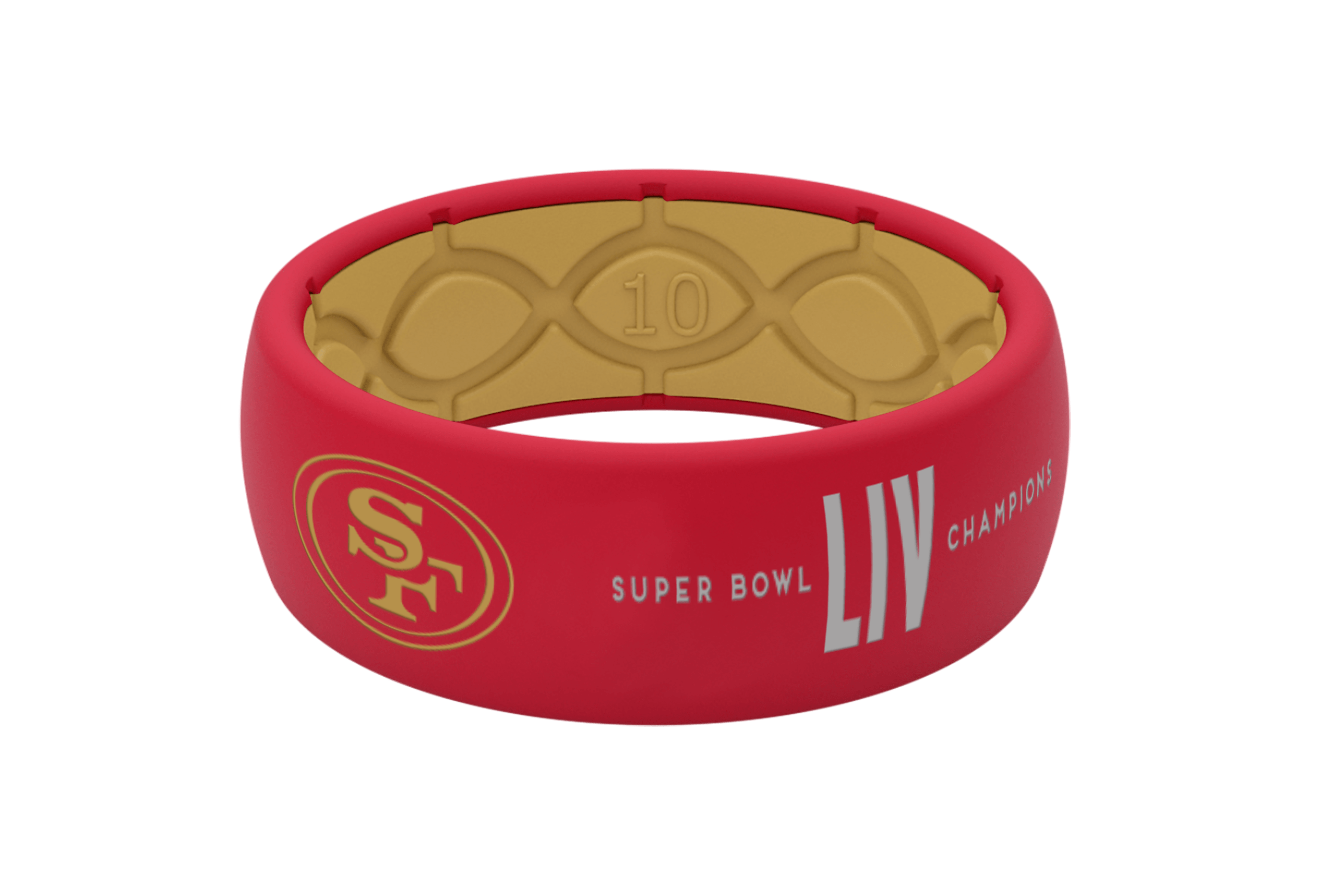 Limited Edition NFL San Francisco 49ers Super Bowl Fan Ring - Groove Life Silicone Wedding Rings