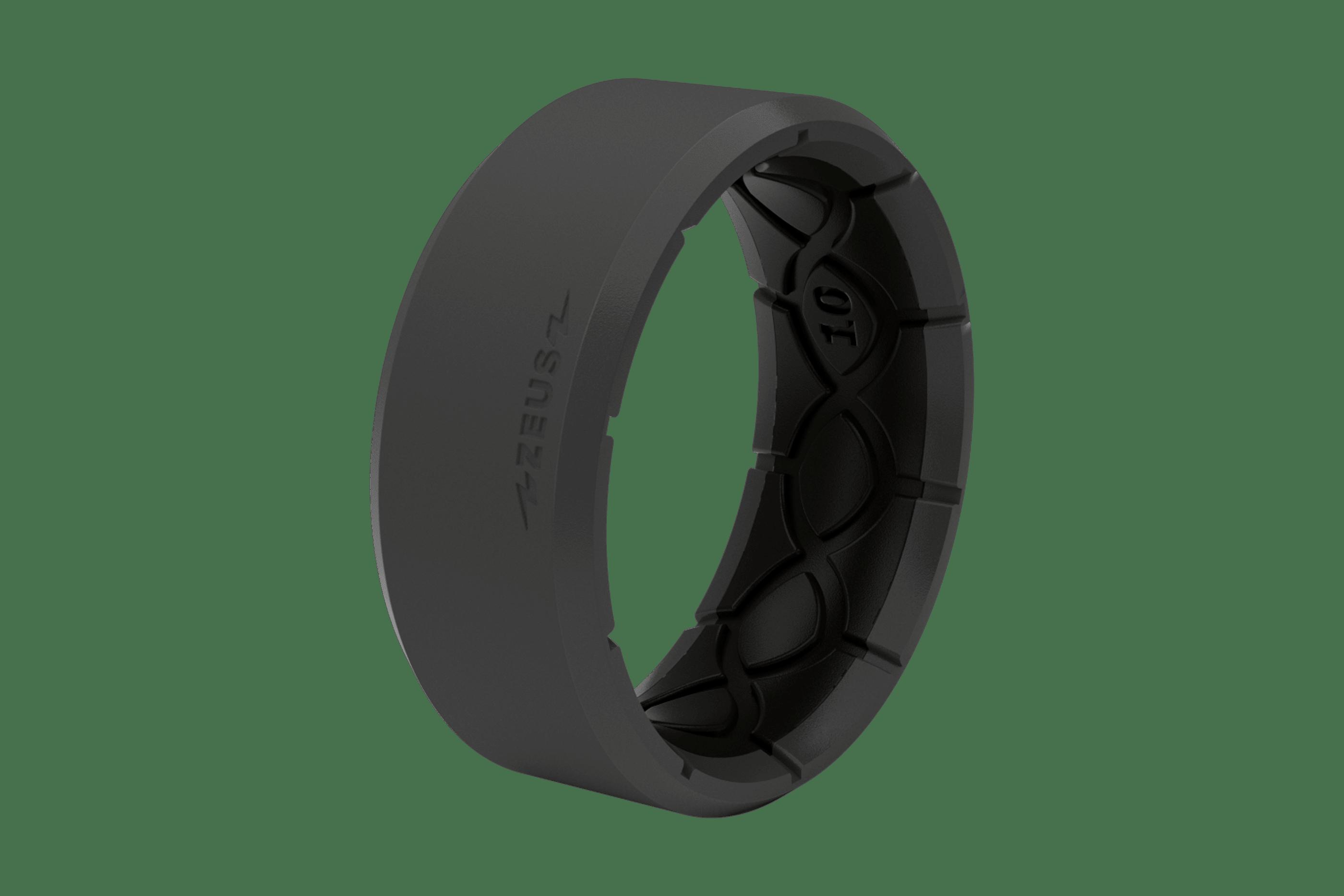 Zeus Edge Deep Stone Grey/Black - Groove Life Silicone Wedding Rings