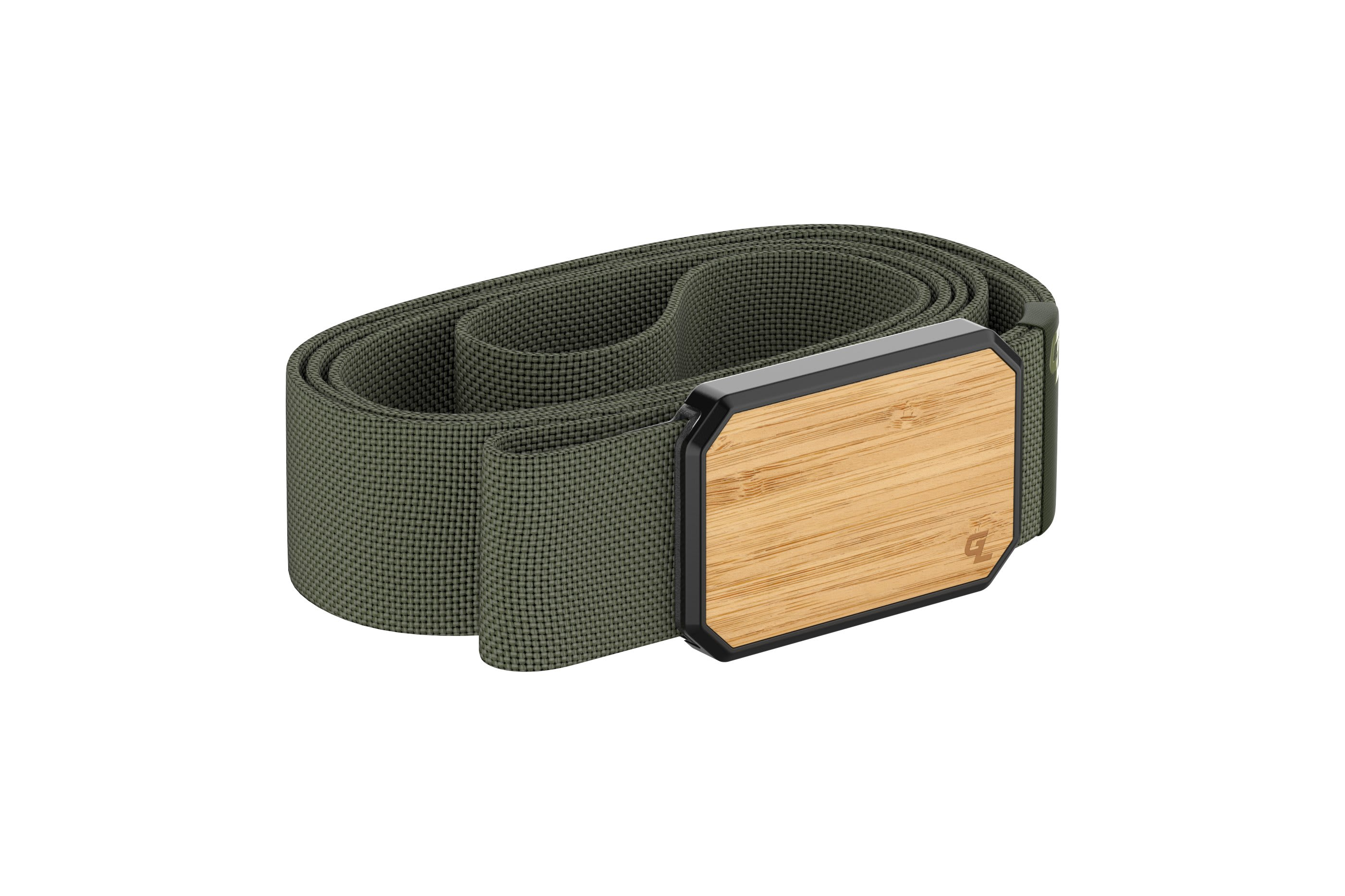 Groove Belt Bamboo/Olive  viewed from side