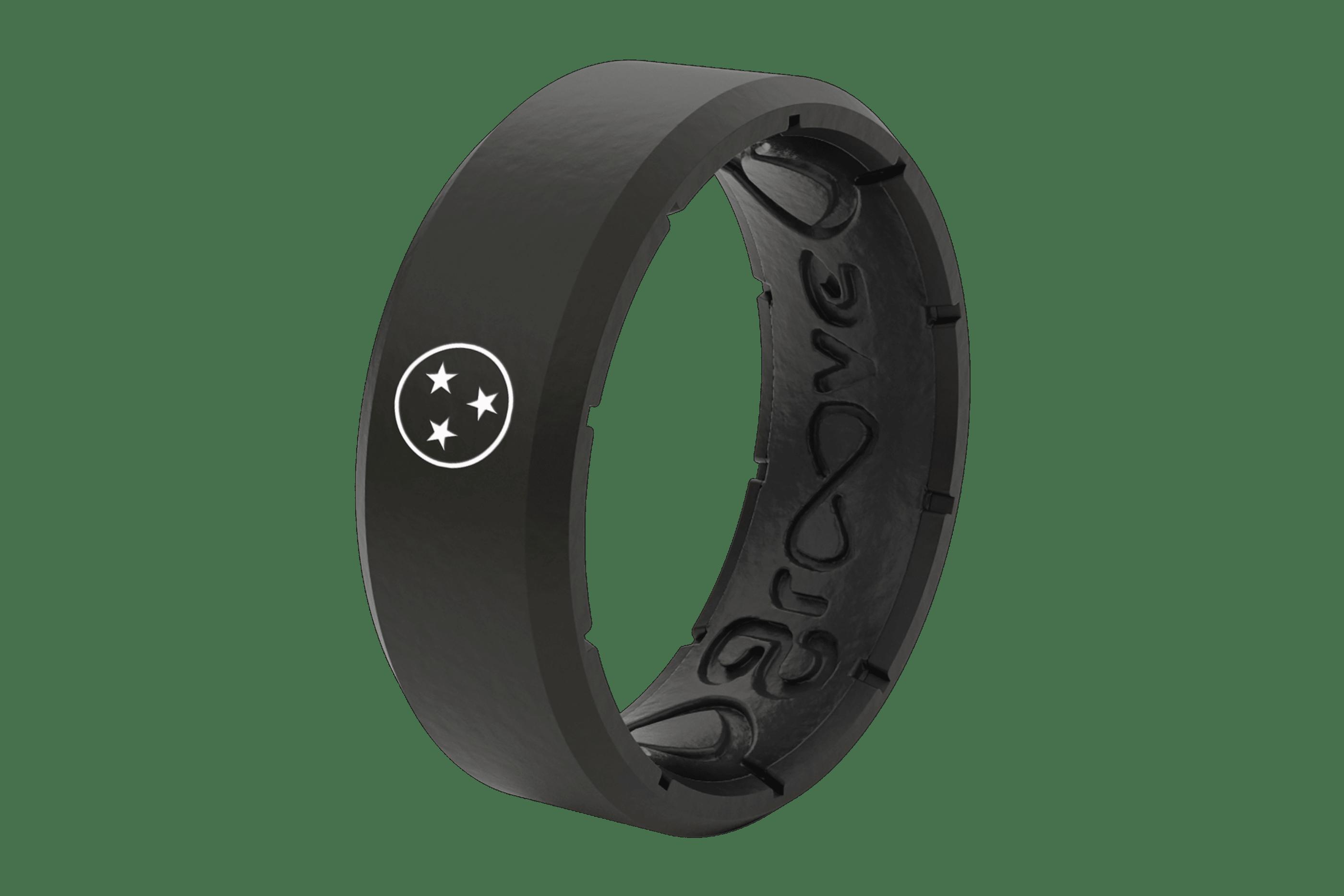 Edge Black Tristar Nash - Groove Life Silicone Wedding Rings