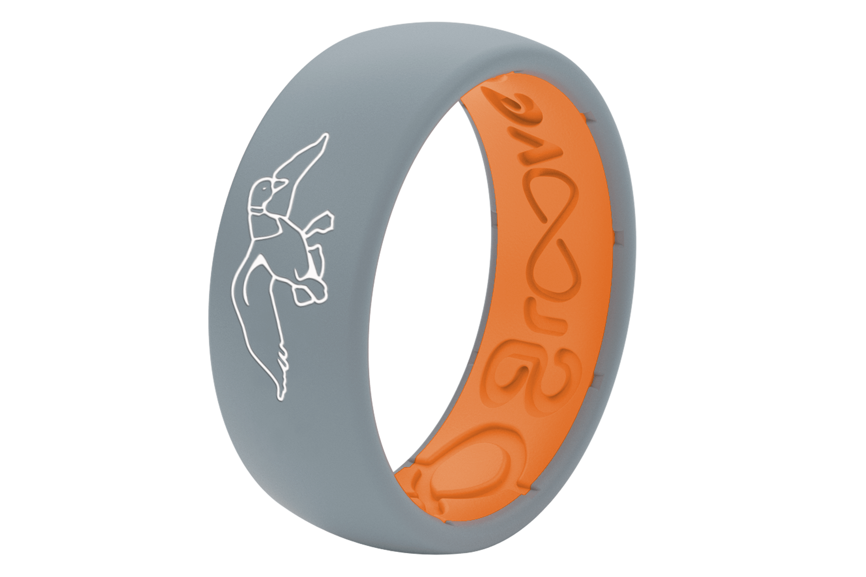 Duck Commander Storm Grey  viewed from side Wedding Rings