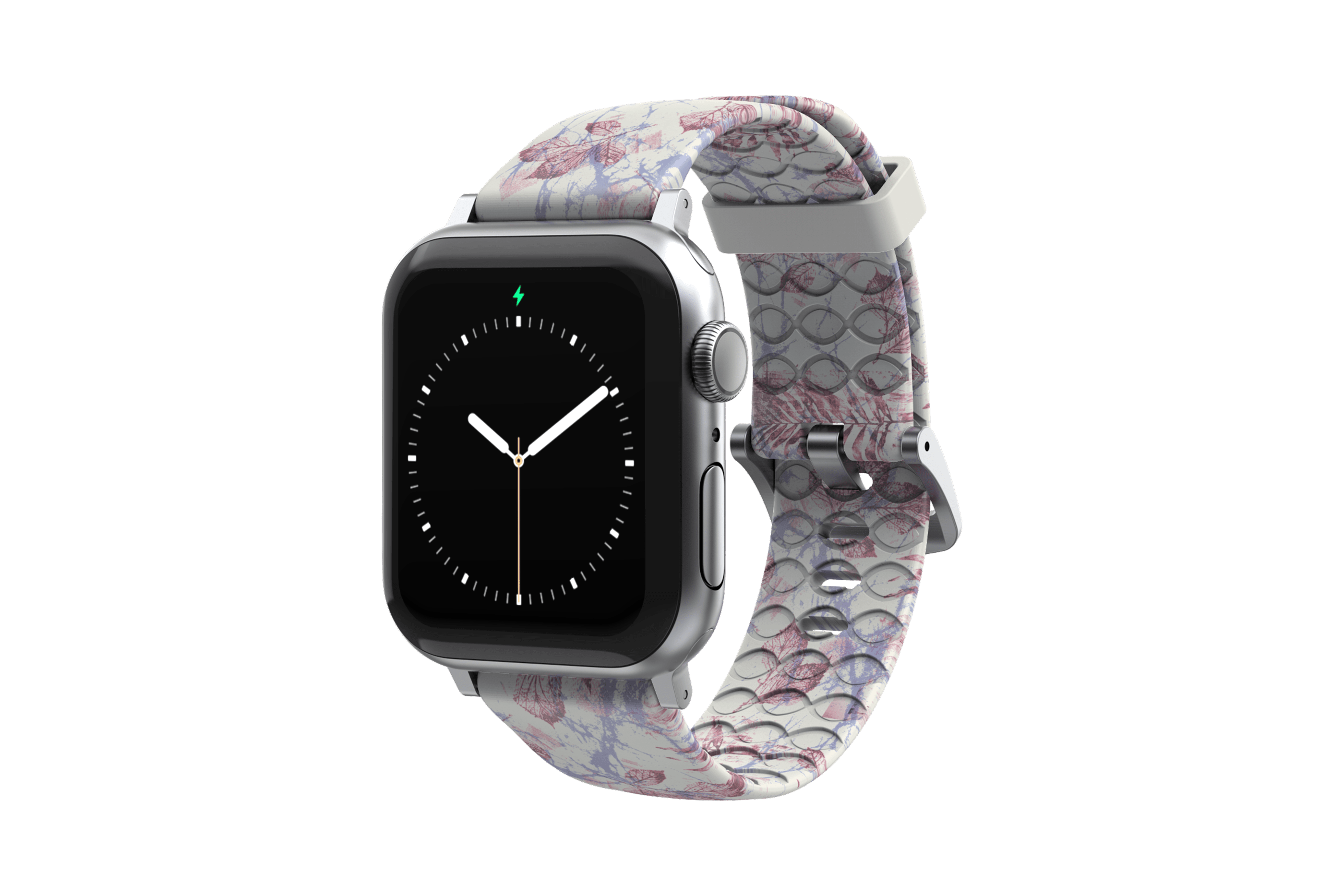 Breeze - Apple Watch Band with silver hardware viewed front on