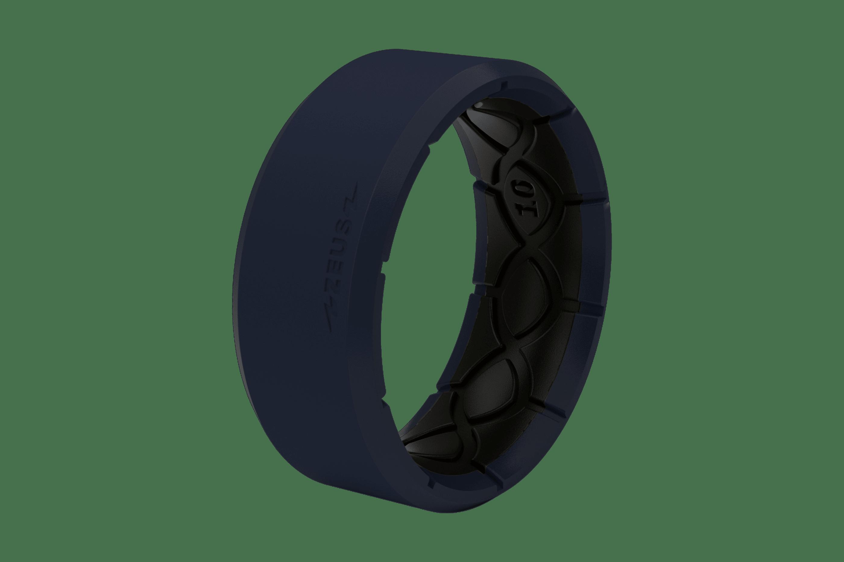 Zeus Edge Navy/Black - Groove Life Silicone Wedding Rings