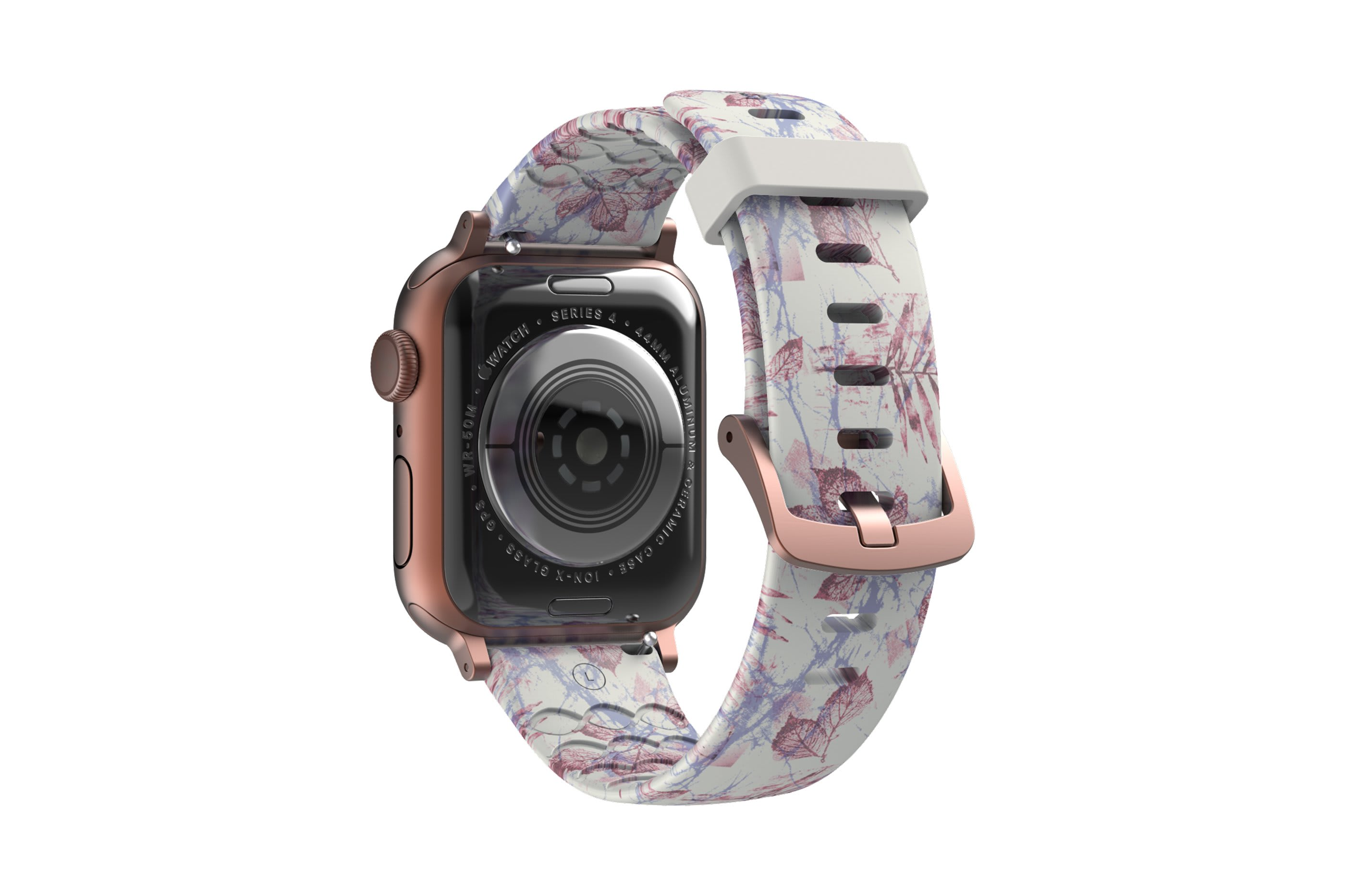 Breeze Apple Watch Band with rose gold hardware viewed from rear