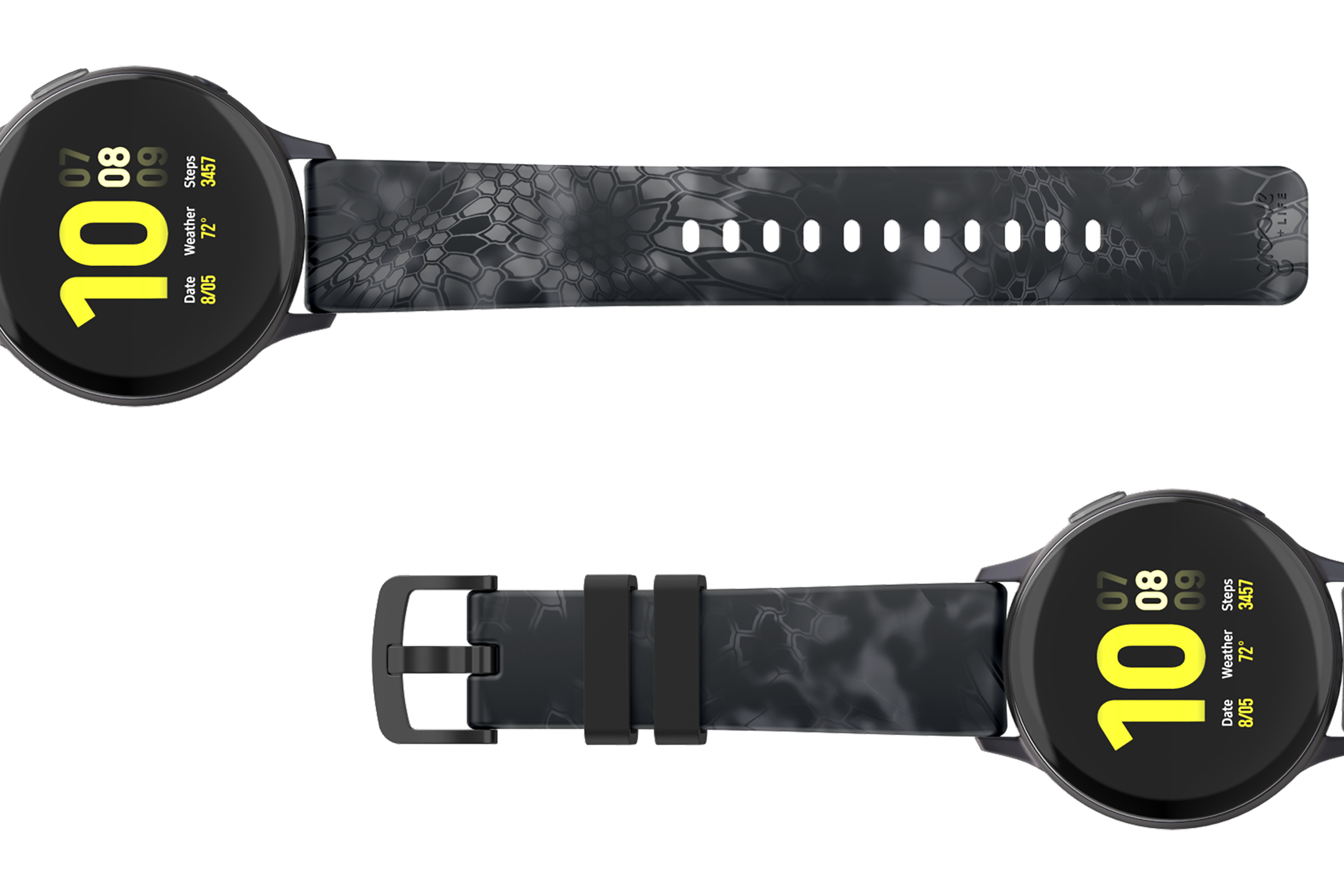 Kryptek Typhon Watch Band 20mm - Groove Life Silicone Wedding Rings