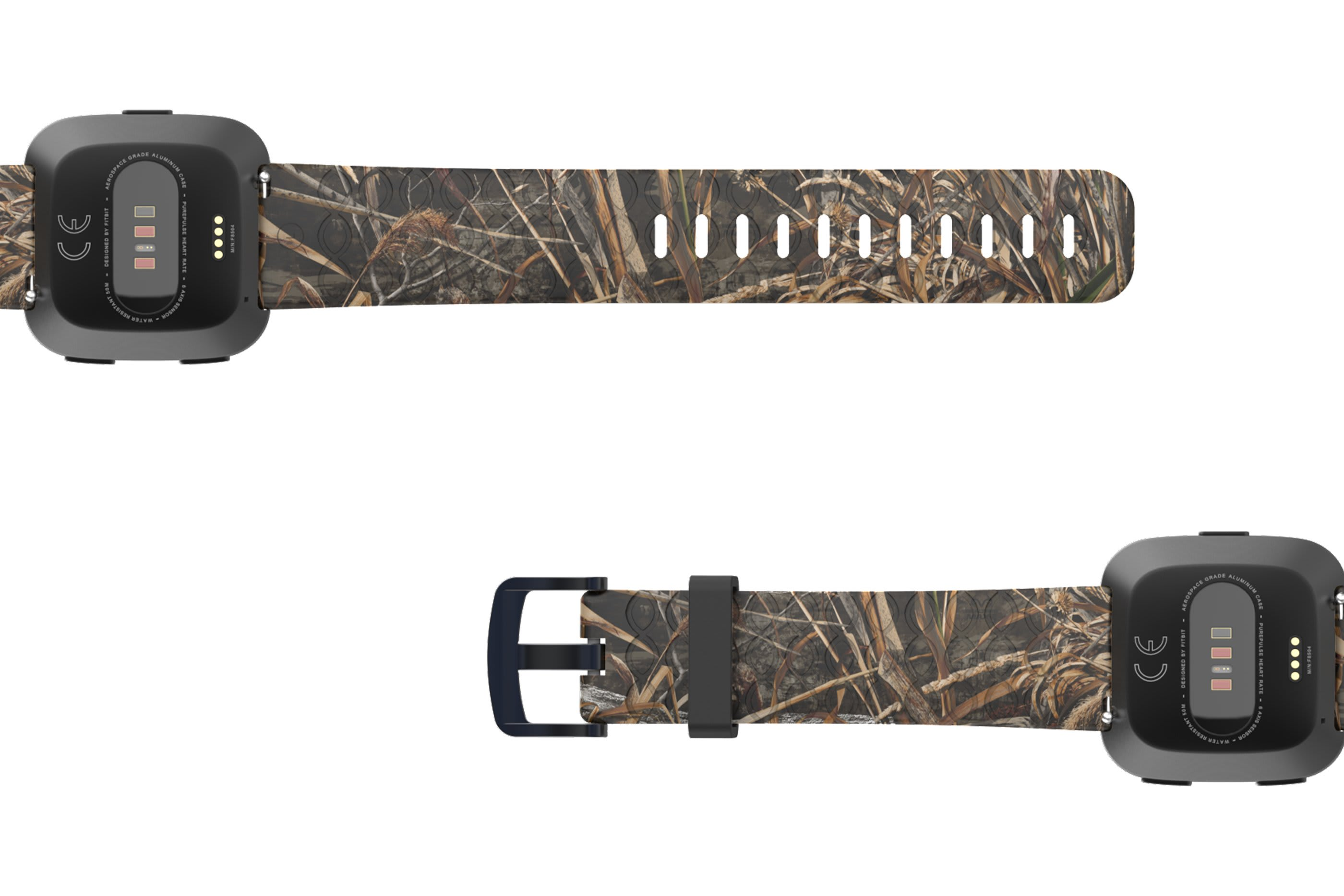 Realtree Max 5 Fitbit Versa   watch band viewed bottom up