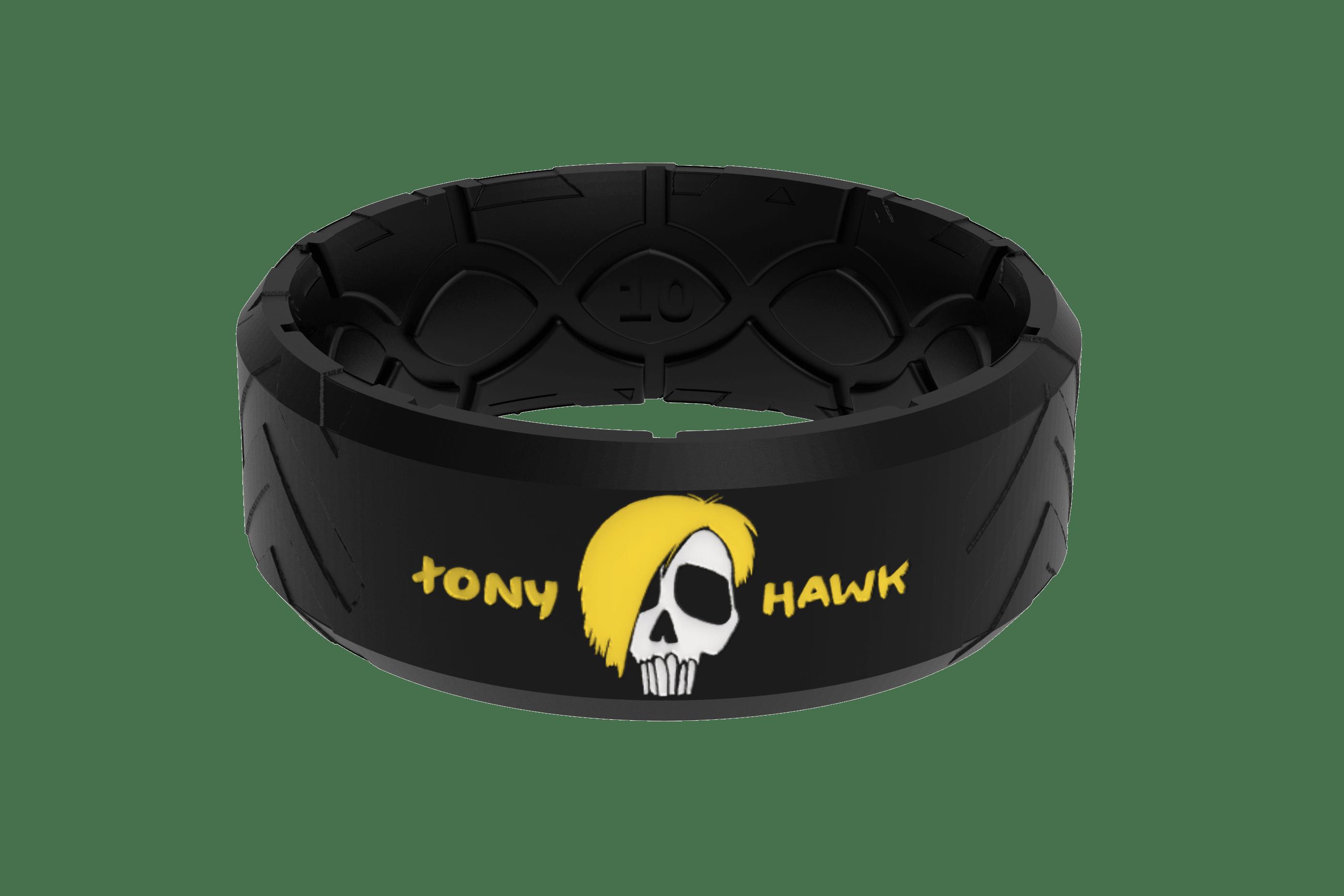Tony Hawk Skate + Die Ring viewed front on