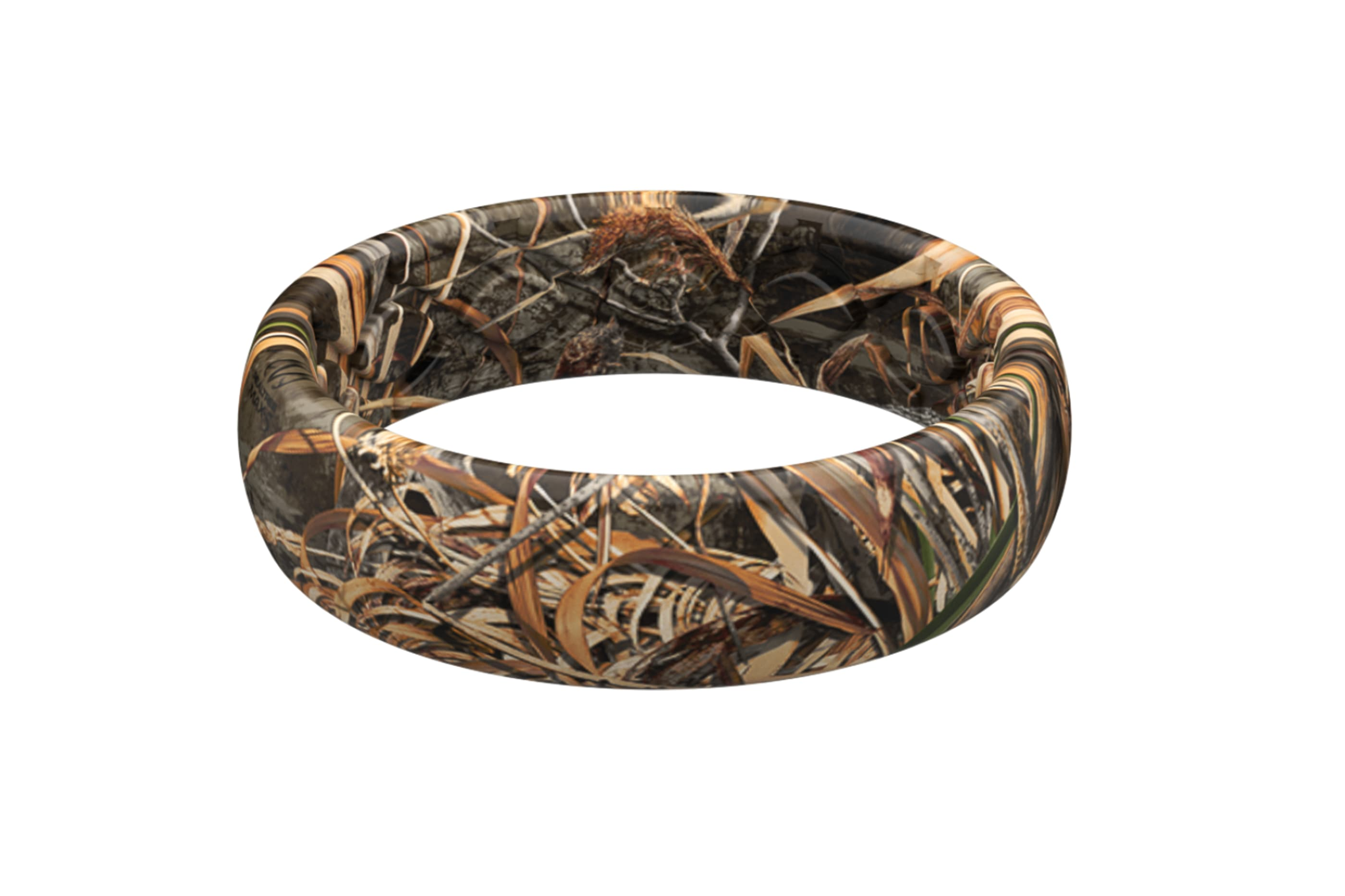 Realtree Max5 thin ring viewed from the side