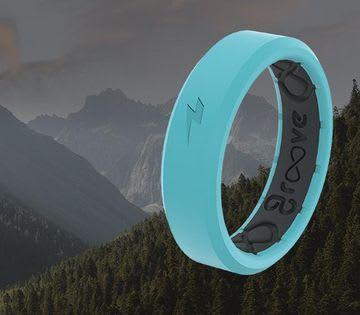 Shop Thin Zeus Rings, featuring Aqua Thin Zeus Ring