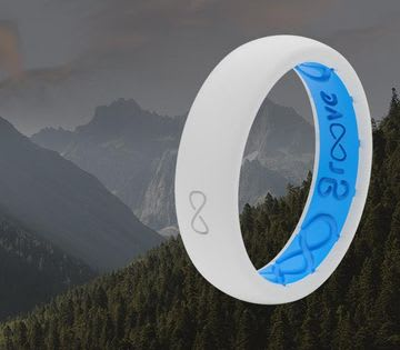Shop Women's Solid Rings, featuring snow and blue ring