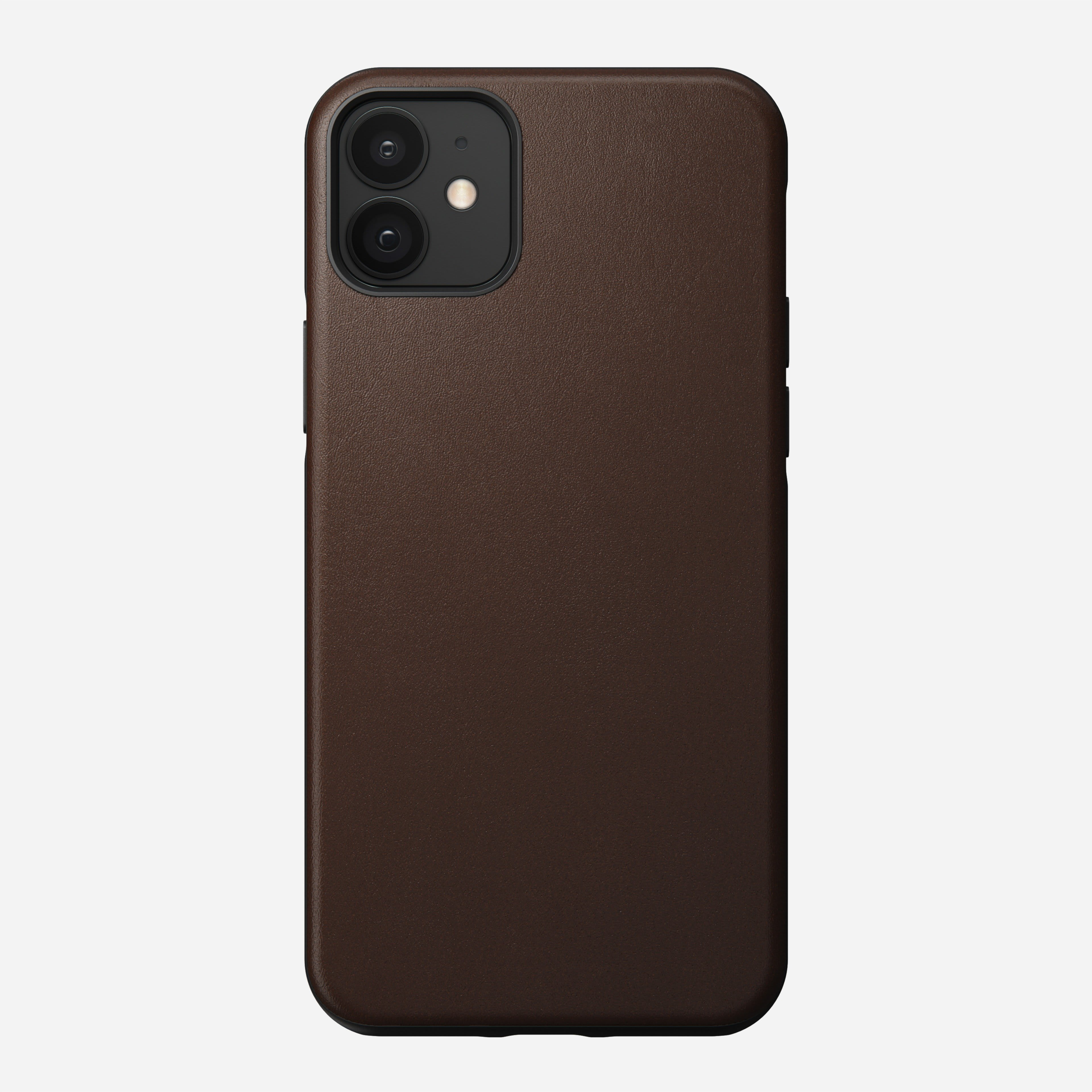 Rugged case horween leather rustic brown iphone 12