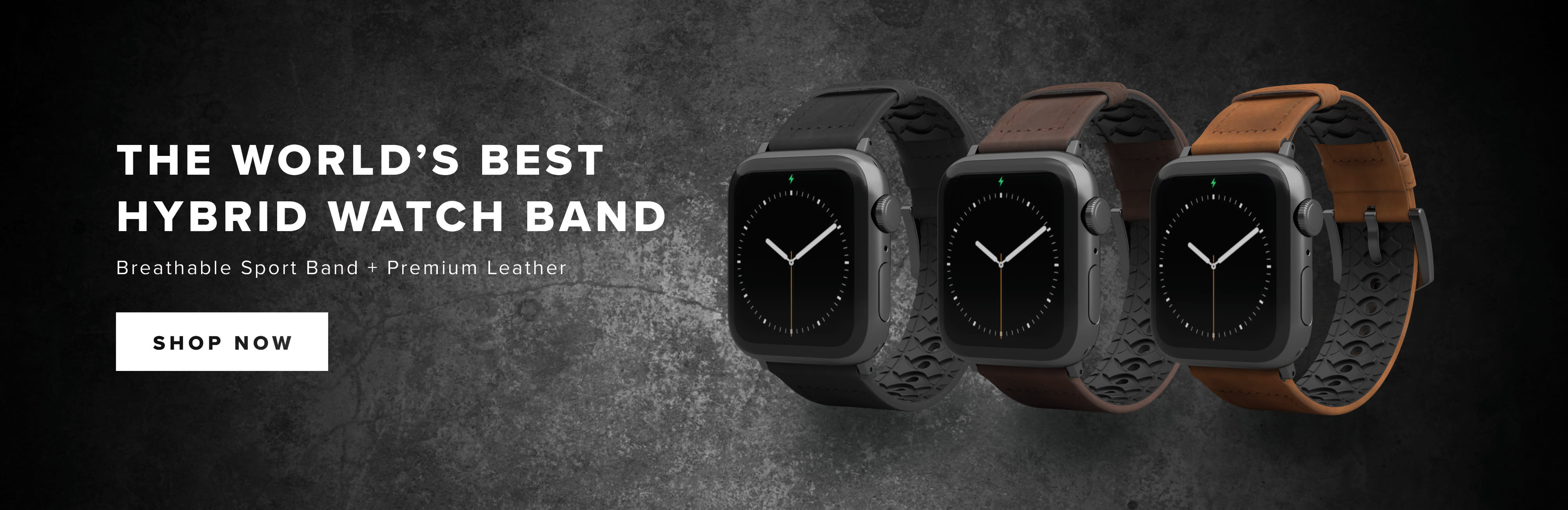 Shop The World's Best Hybrid Watch Band; Vulcan Leather Watch Bands