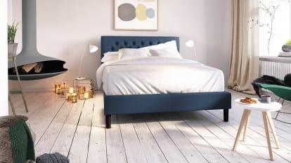 shop metal platform bed frame upholstered platform bed low profile bed frame and wood platform bed