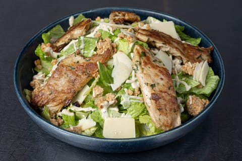 Bar Vegan Chicken Caesar Salad