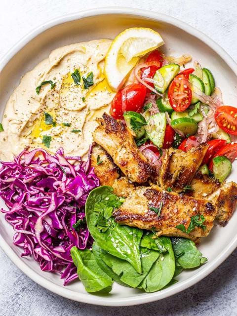 Daring plant based chicken vegan Hummus Bowl