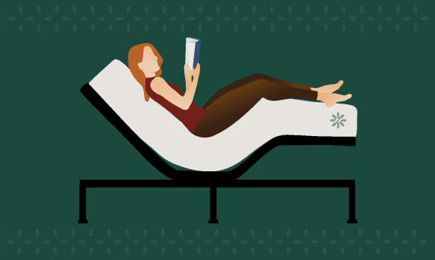 Zero gravity position on an adjustable bed