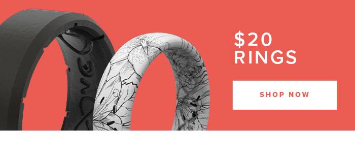 Shop $20 Rings