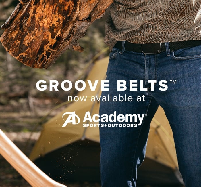 GROOVE BELTS NOW AVAILABLE AT ACADEMY