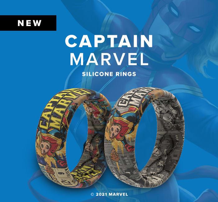 Shop Captain Marvel Super Hero Rings