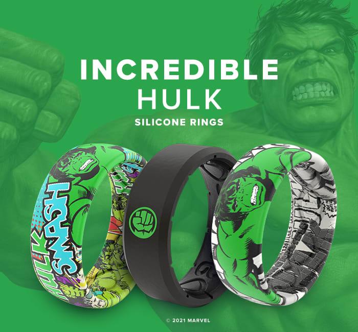Incredible Hulk Marvel Rings