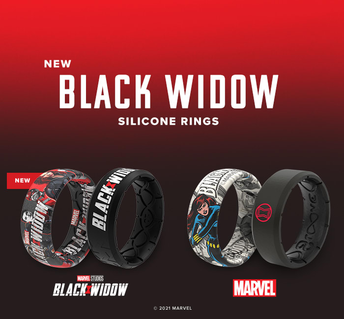 New Black Widow silicone rings; shop now!