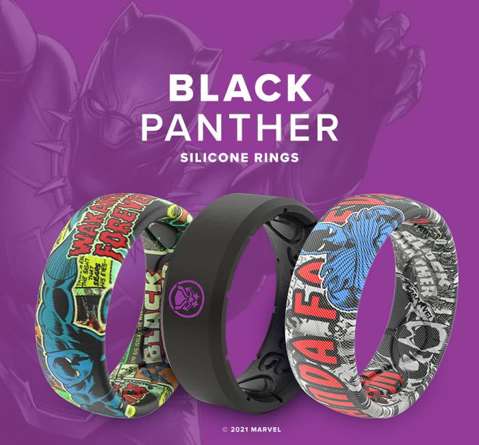 Shop Black Panther Marvel Silicone Rings