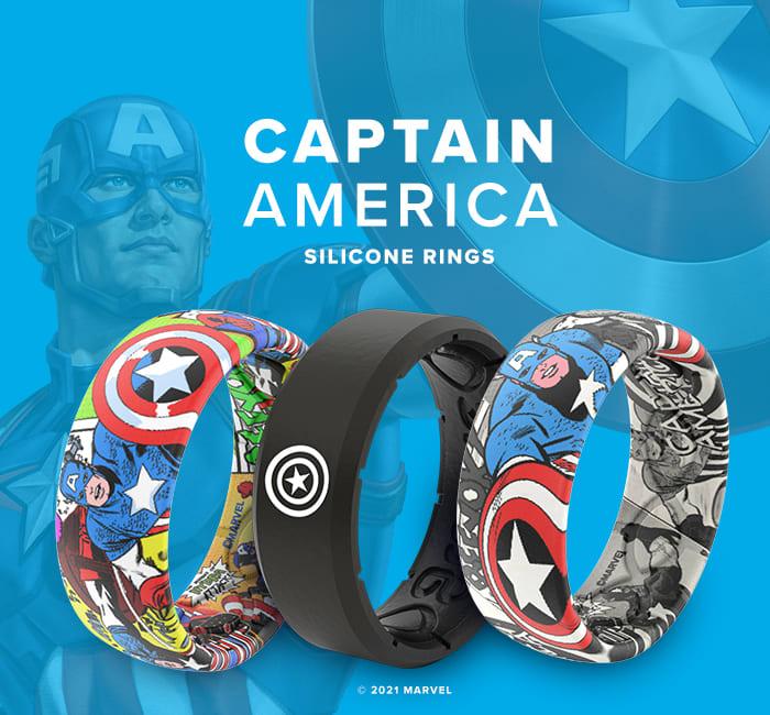 Captain America Marvel Rings