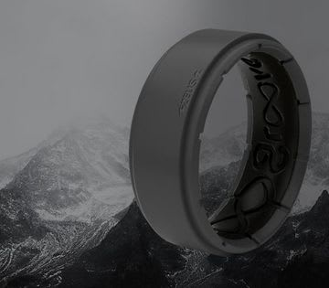 Shop  Men's Zeus Rings, featuring Deep Stone Grey and Black Zeus ring