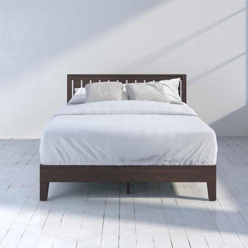 Vivek Deluxe Wood Platform Bed frame